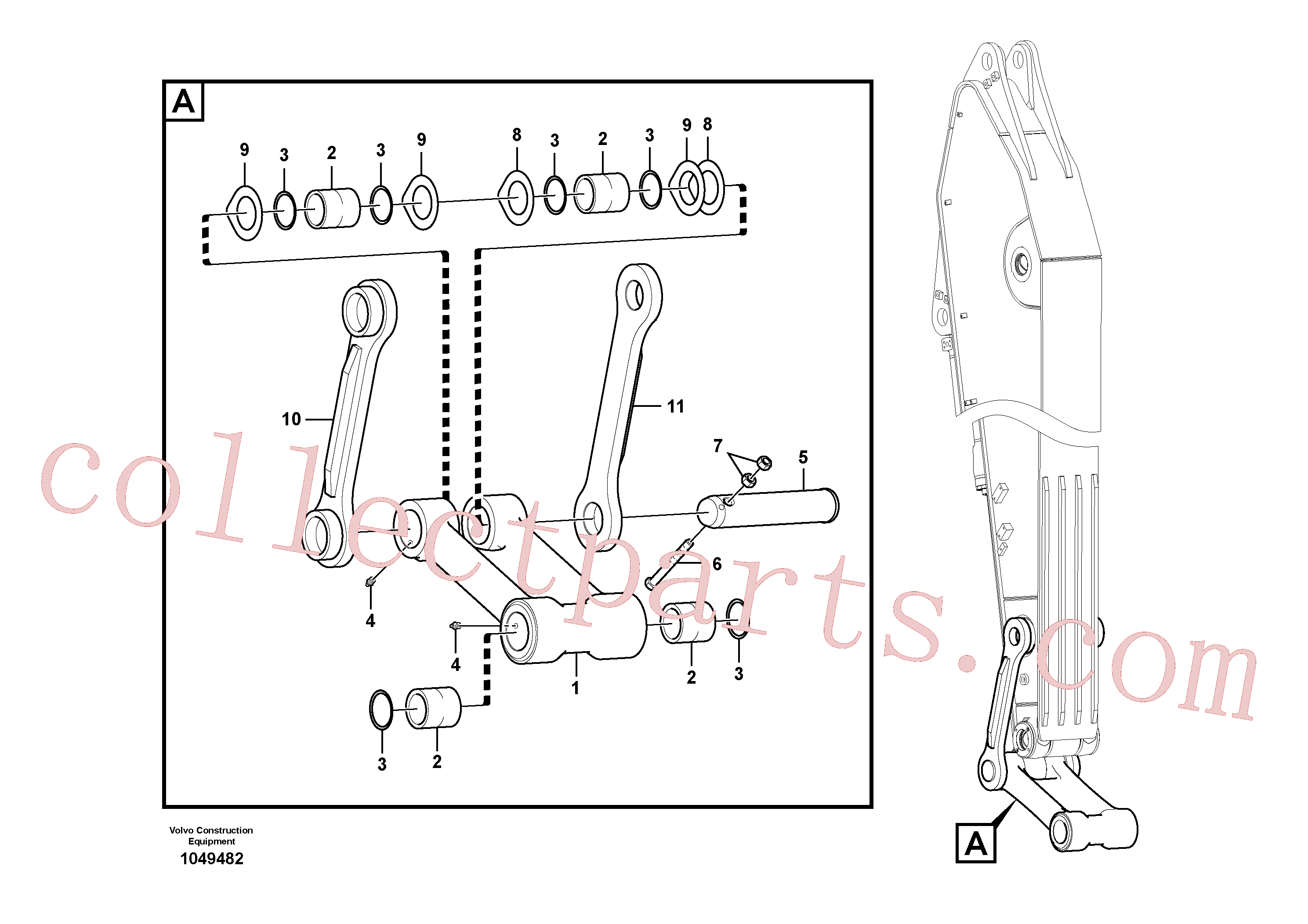 VOE14550744 for Volvo Links to connecting rod(1049482 assembly)
