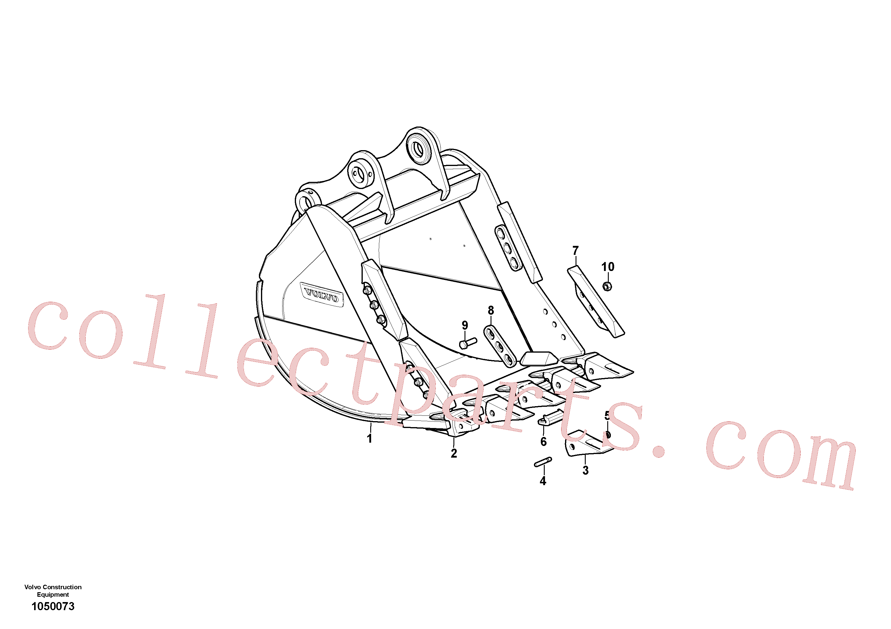 VOE14530543 for Volvo Bucket(1050073 assembly)