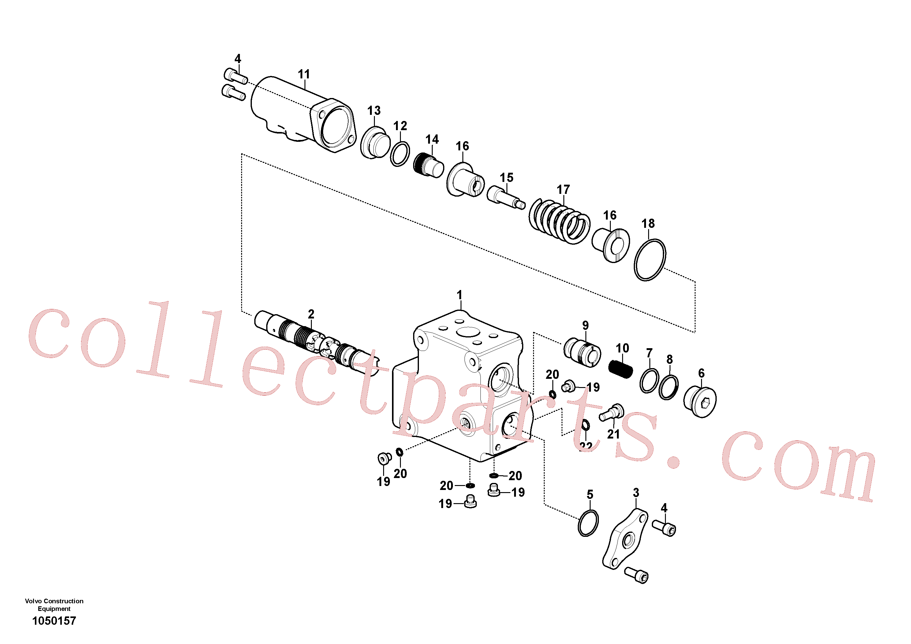 VOE990587 for Volvo Control valve(1050157 assembly)