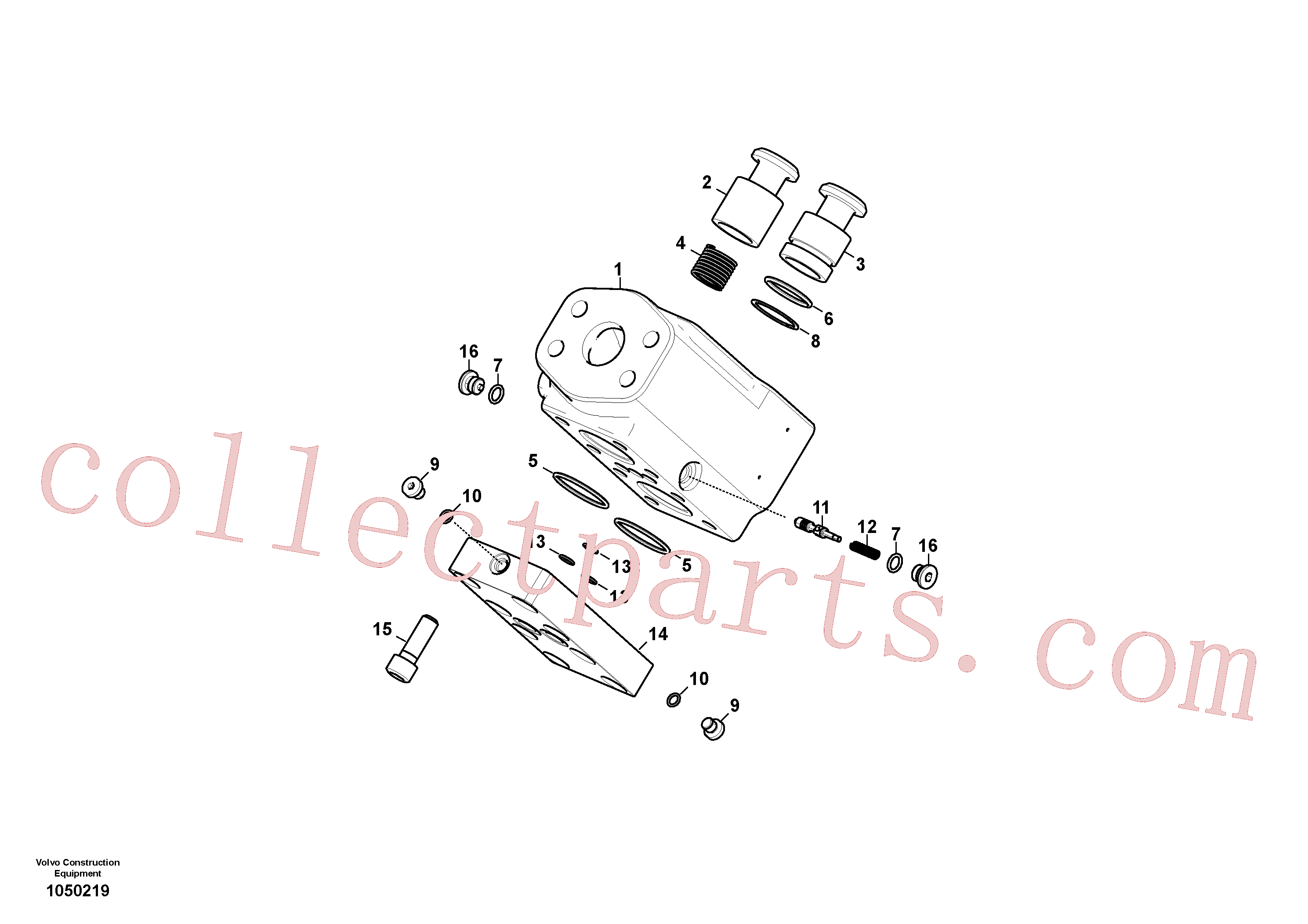 VOE983532 for Volvo Valve, selector(1050219 assembly)