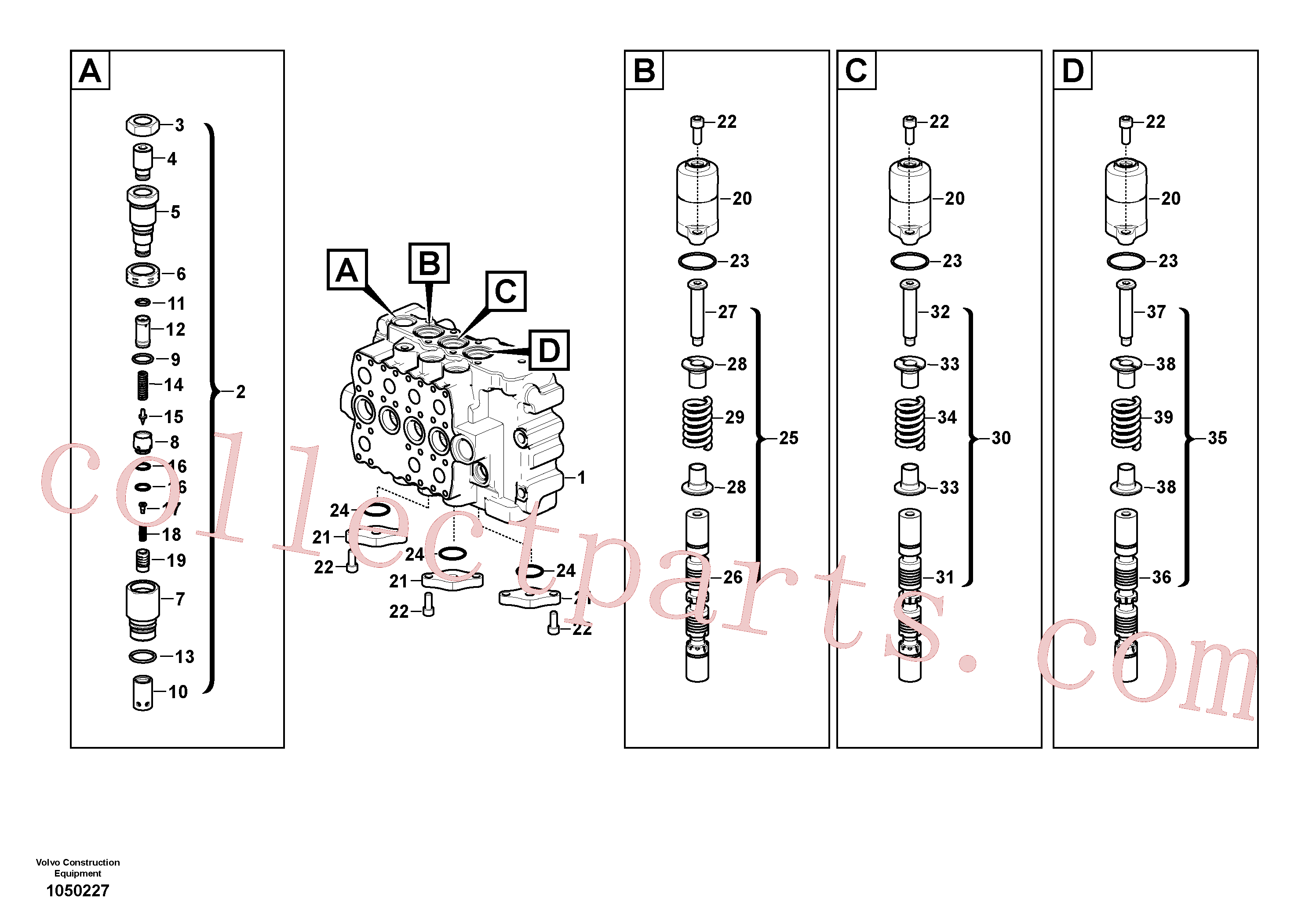 VOE14535274 for Volvo Main control valve(1050227 assembly)