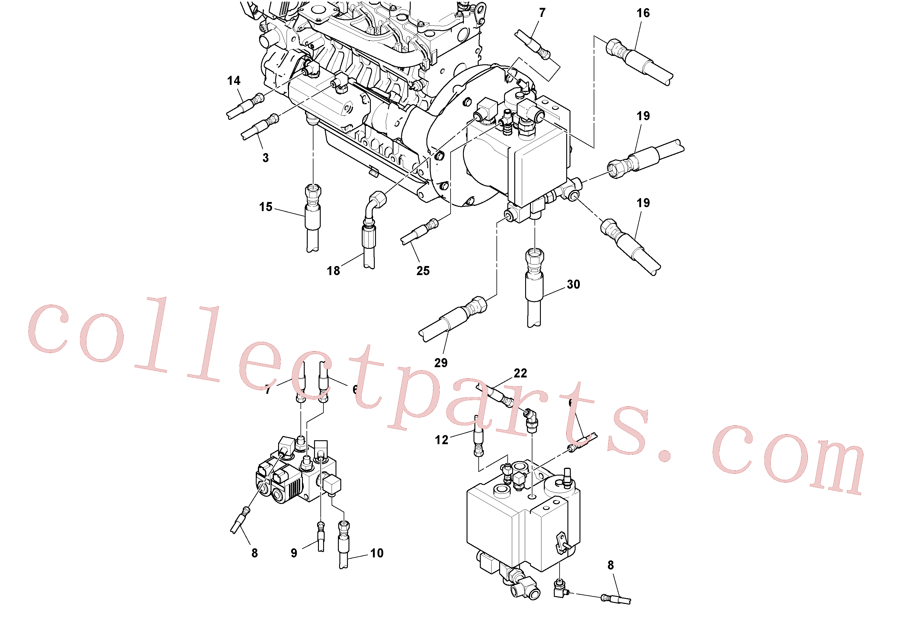 RM13334214 for Volvo Rear Frame Hoses Installation(1051405 assembly)