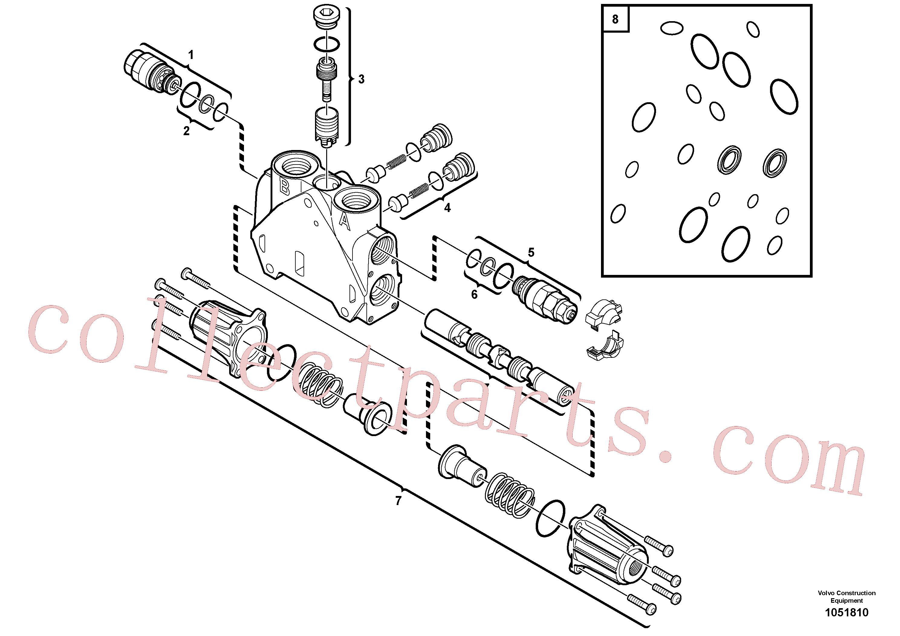 PJ7410425 for Volvo Valve section(1051810 assembly)