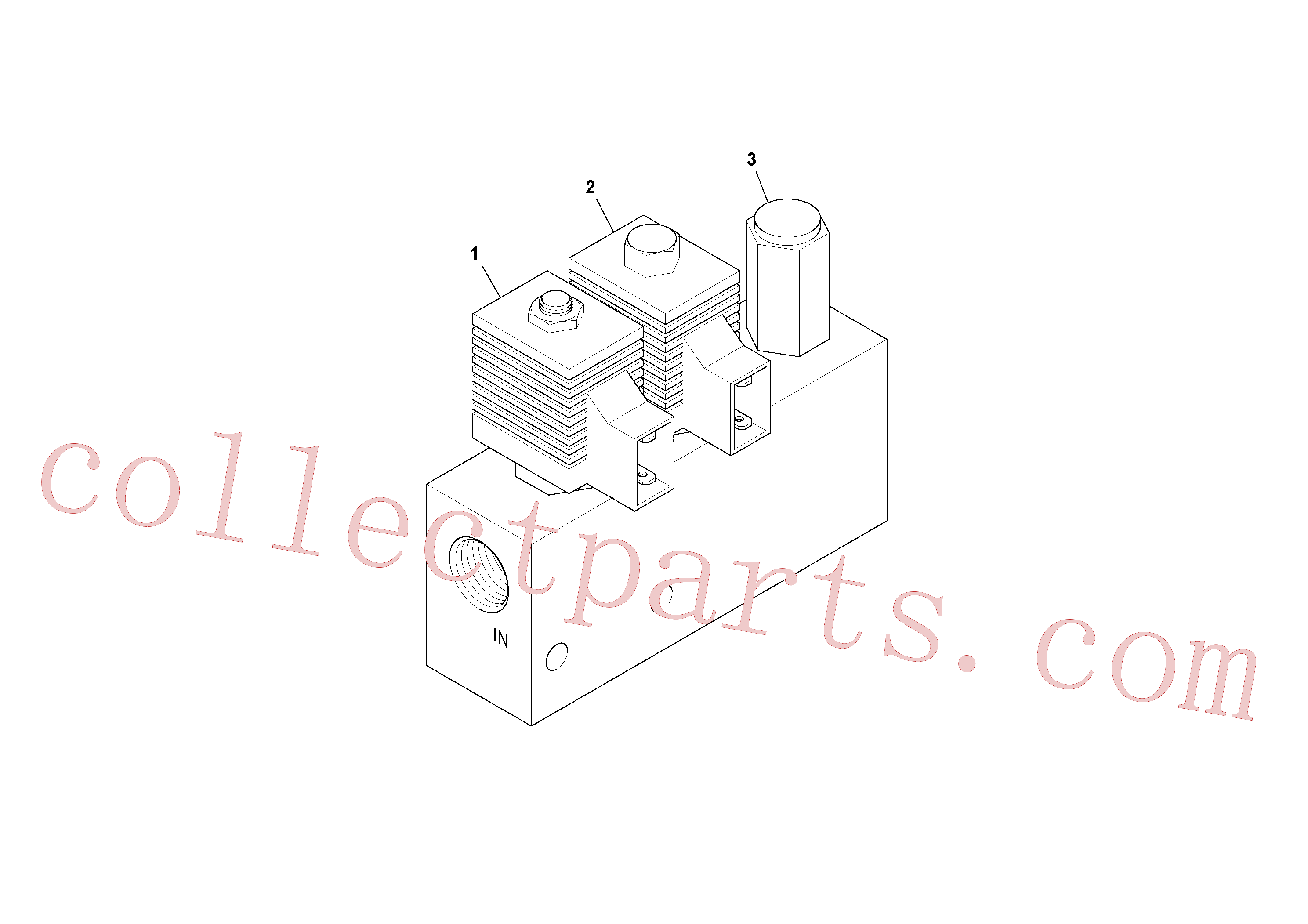 RM20176715 for Volvo Mixer/agitator Control Valve(1052082 assembly)