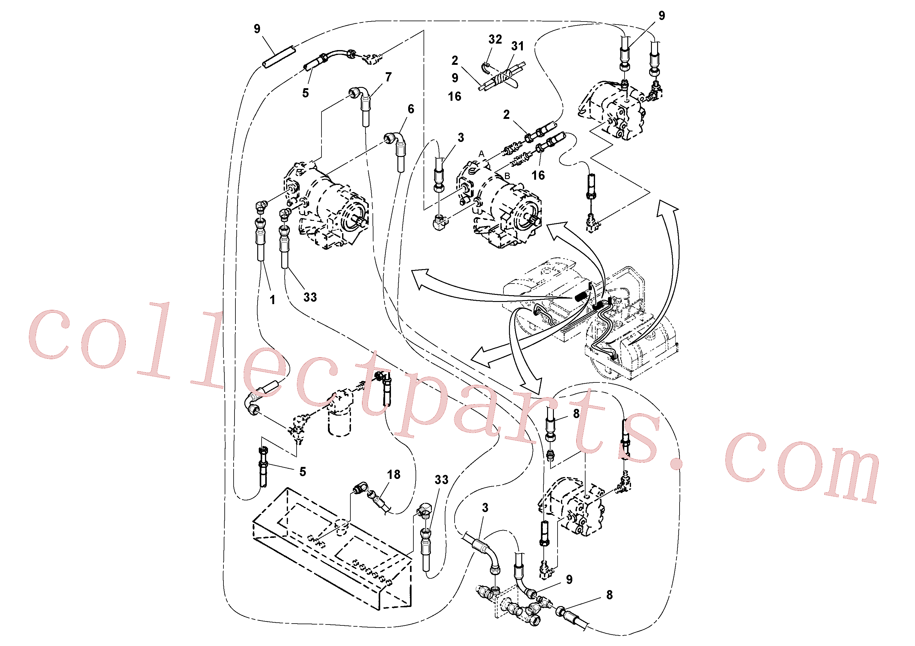 RM13040506 for Volvo Vibration Hoses Installation(1052562 assembly)