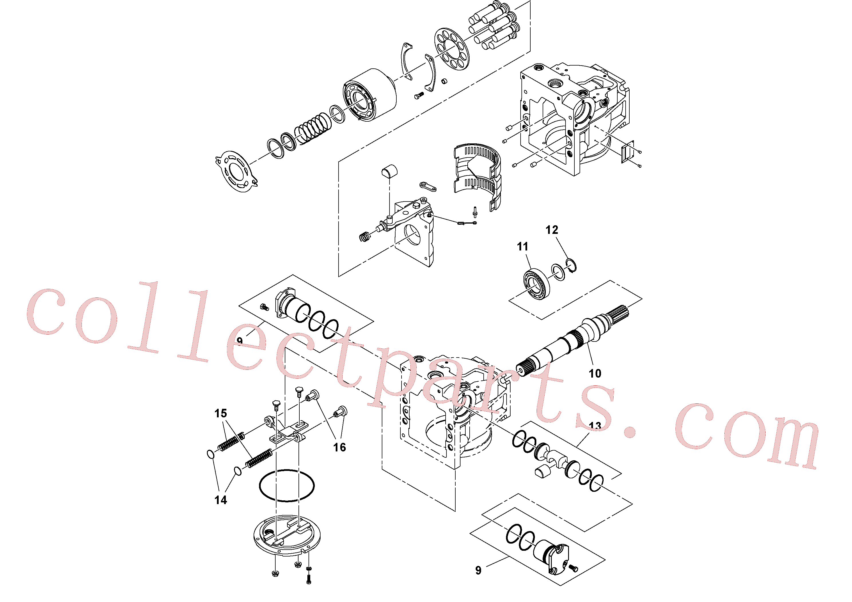RM58891946 for Volvo Hydraulic pump(1053158 assembly)