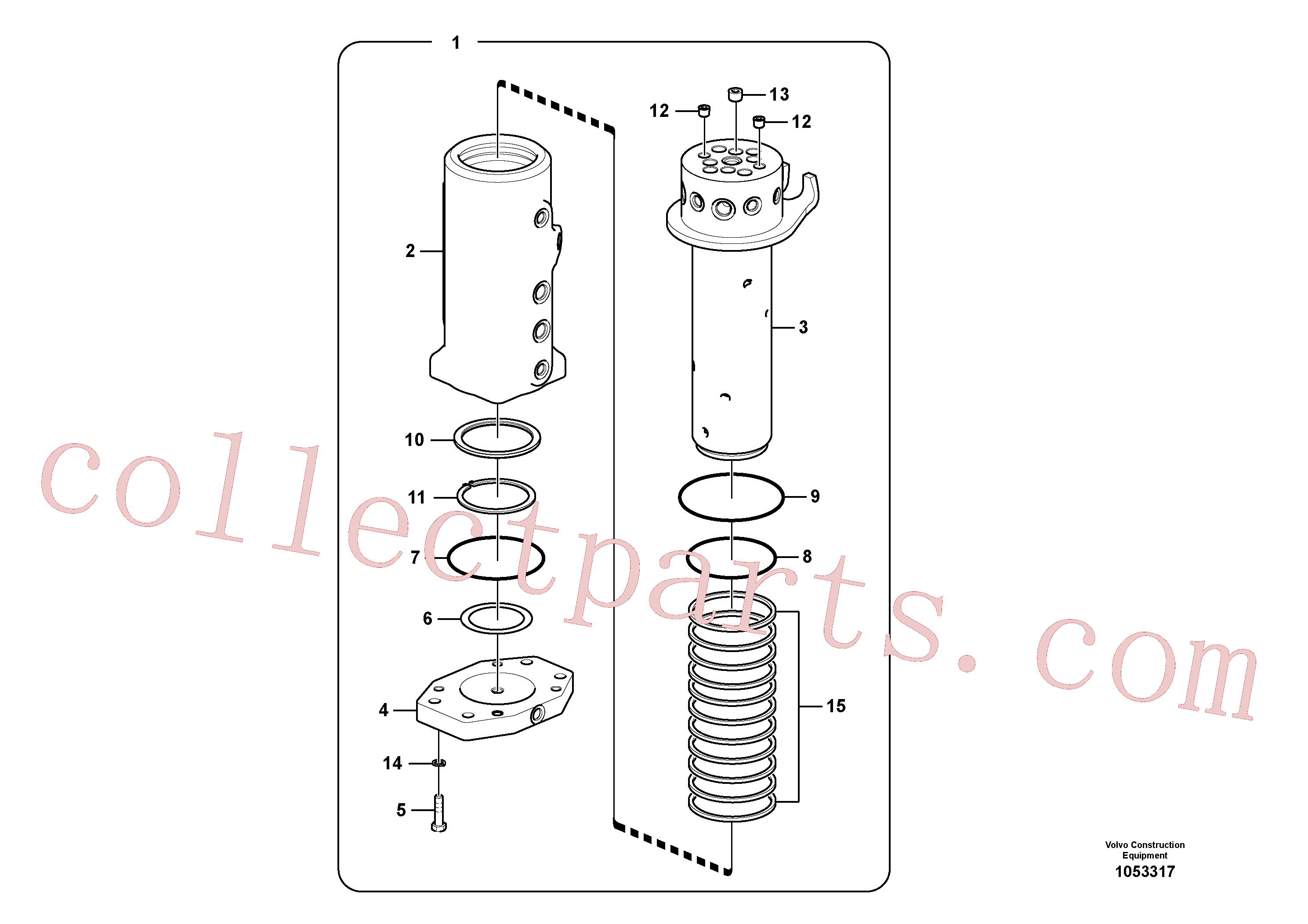 SA9511-22095 for Volvo Turning joint(1053317 assembly)