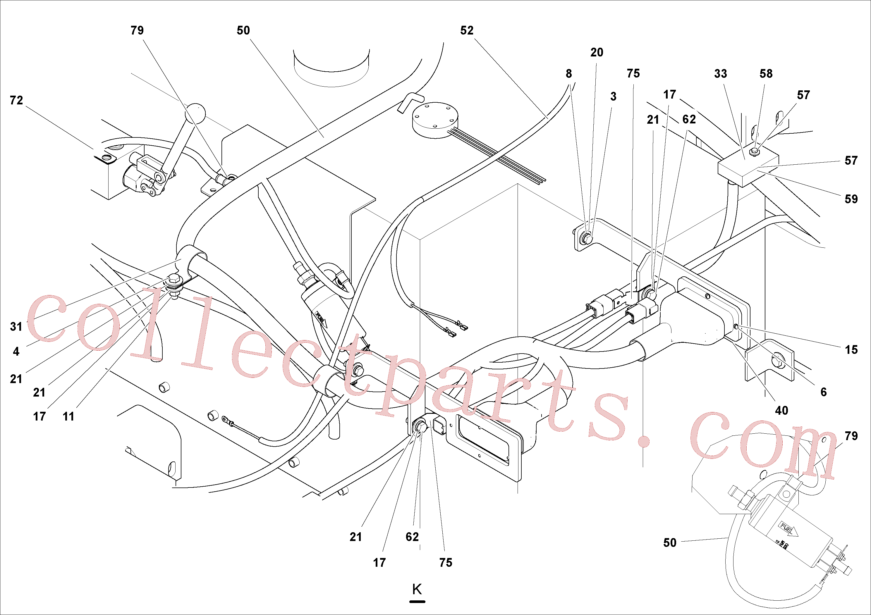RM95301875 for Volvo Electrical Arrangement(1053491 assembly)