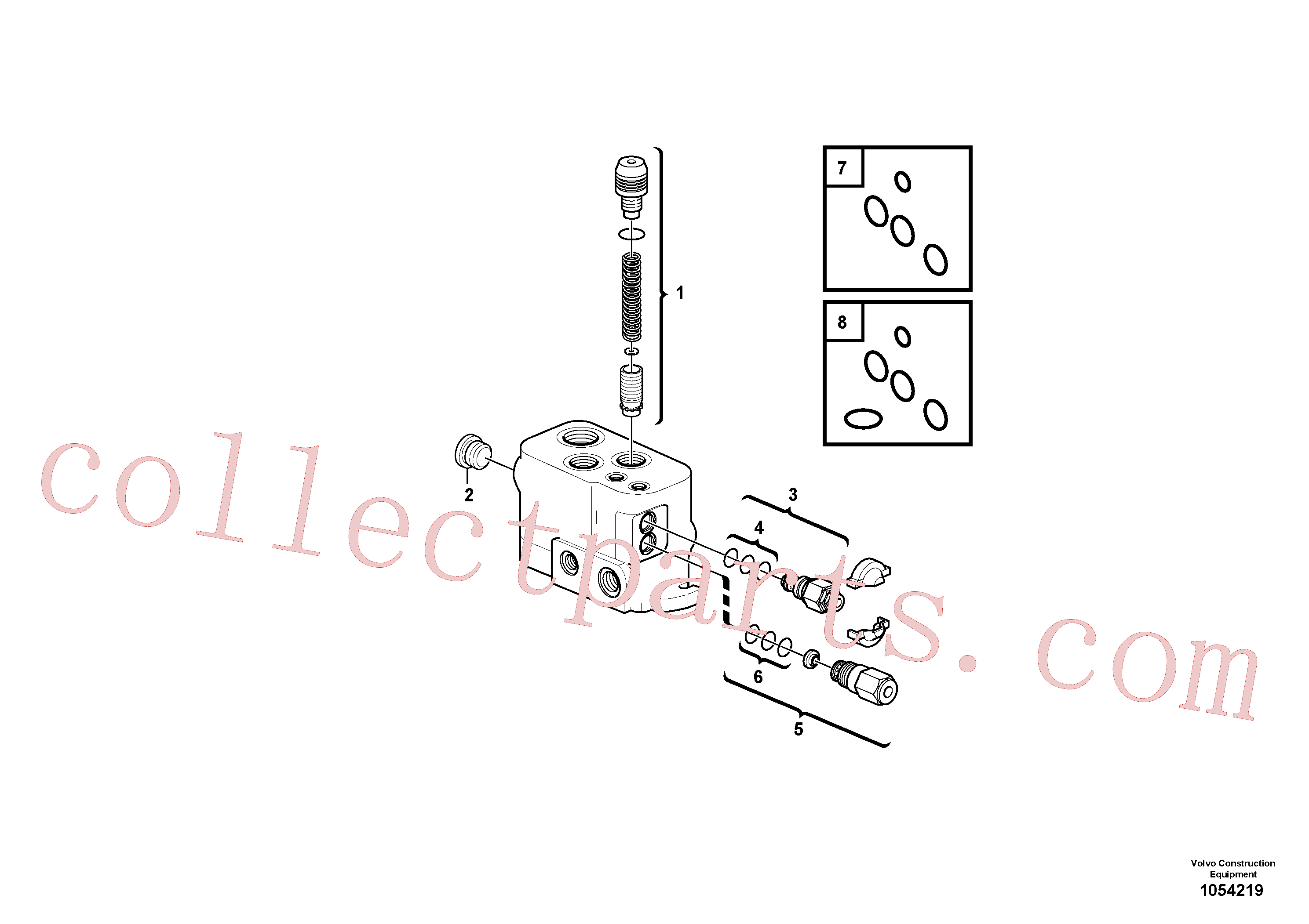 VOE11802877 for Volvo Valve section(1054219 assembly)