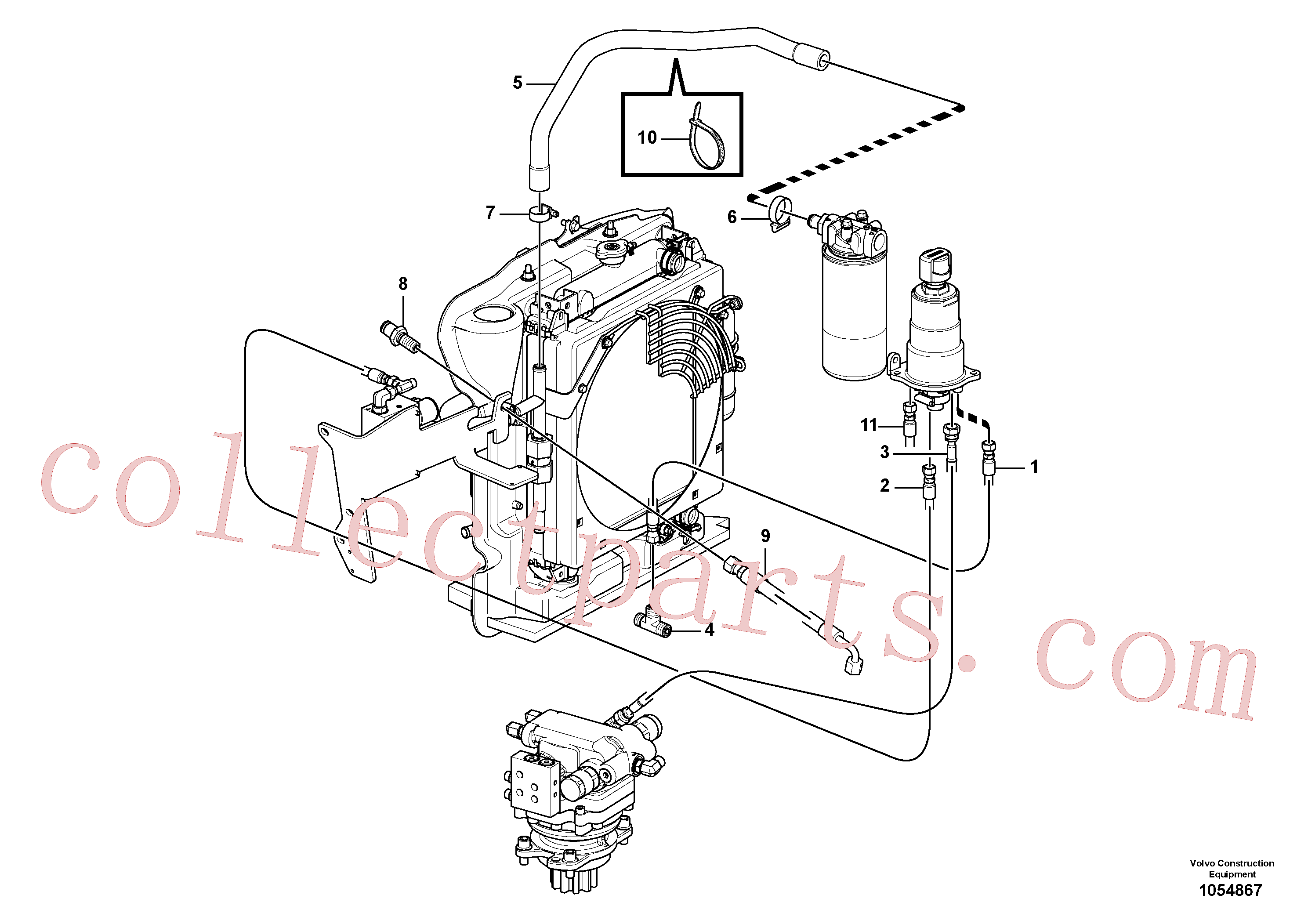 PJ5471015 for Volvo Hydraulic circuit, upper frame(1054867 assembly)