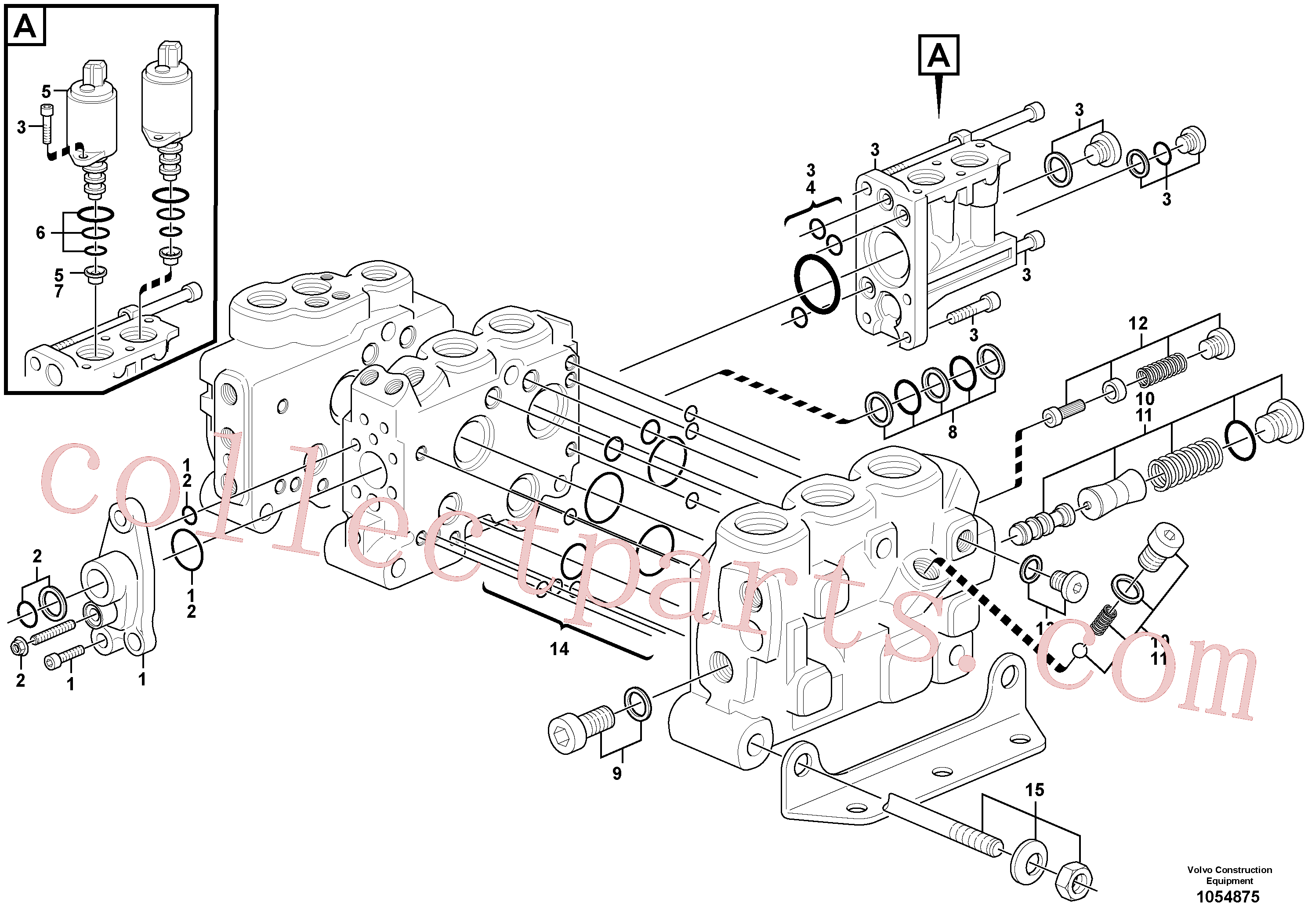 VOE15121298 for Volvo Control valve(1054875 assembly)