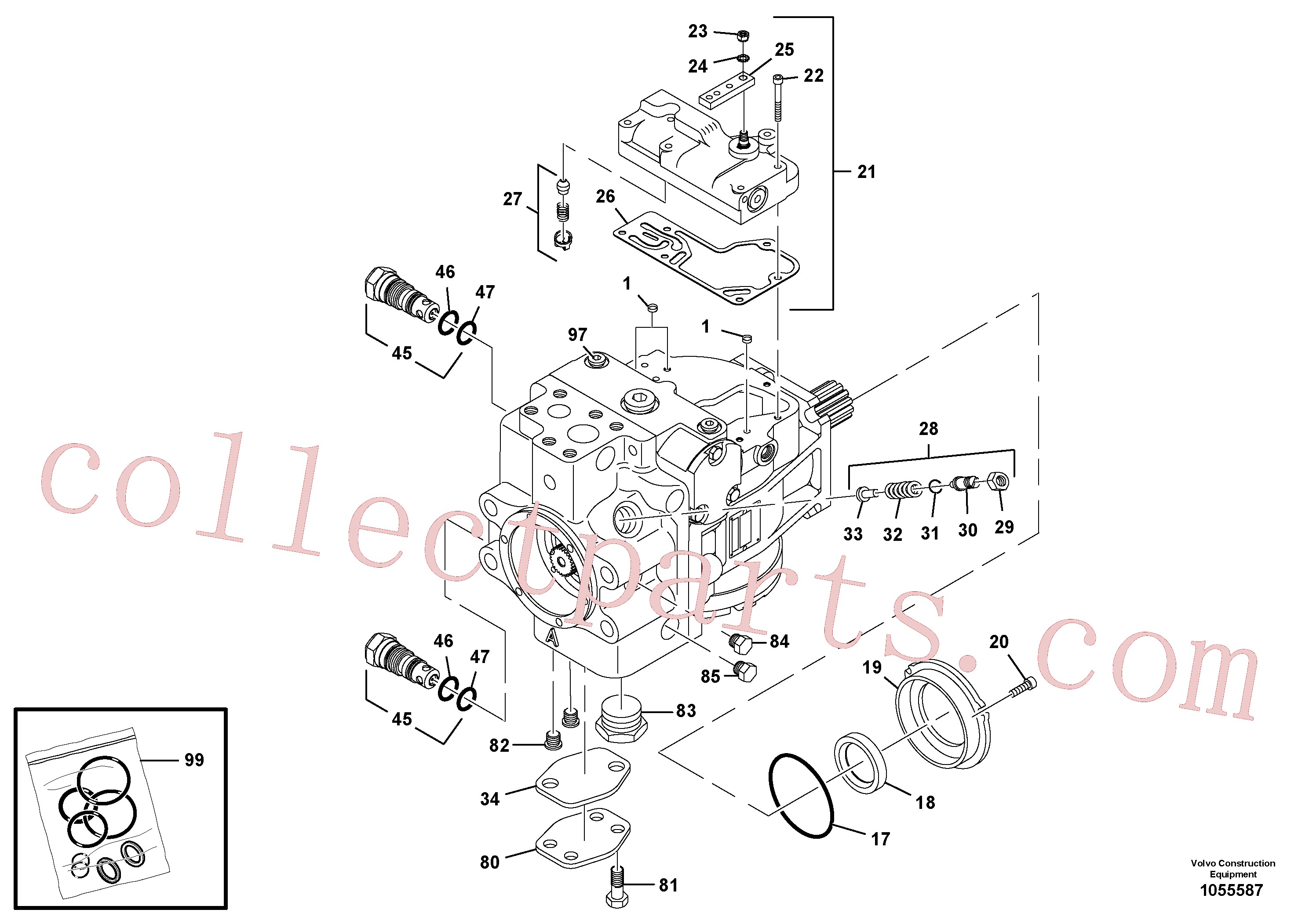 RM59933622 for Volvo Propulsion Pump(1055587 assembly)
