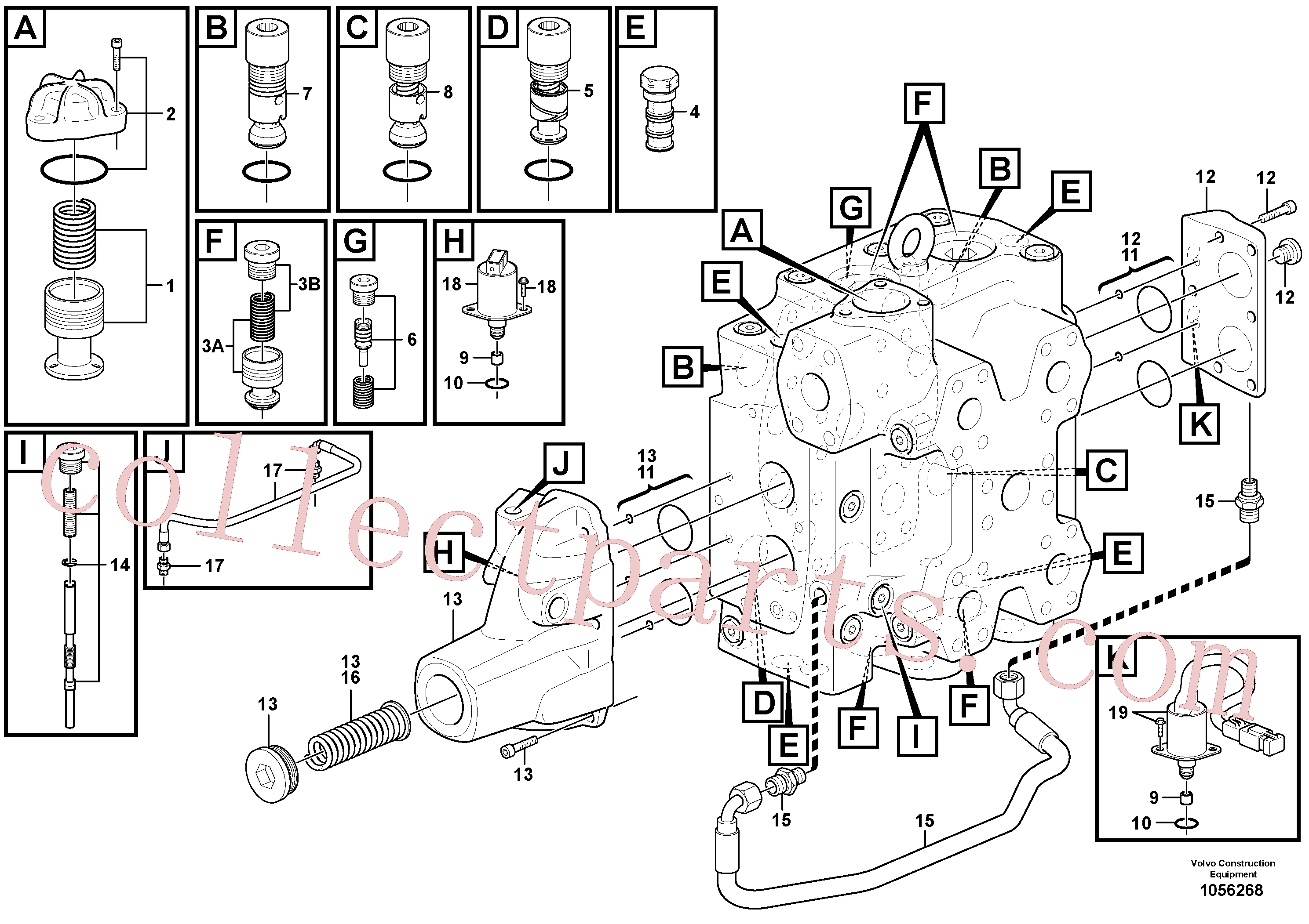 VOE15165436 for Volvo Control valve(1056268 assembly)