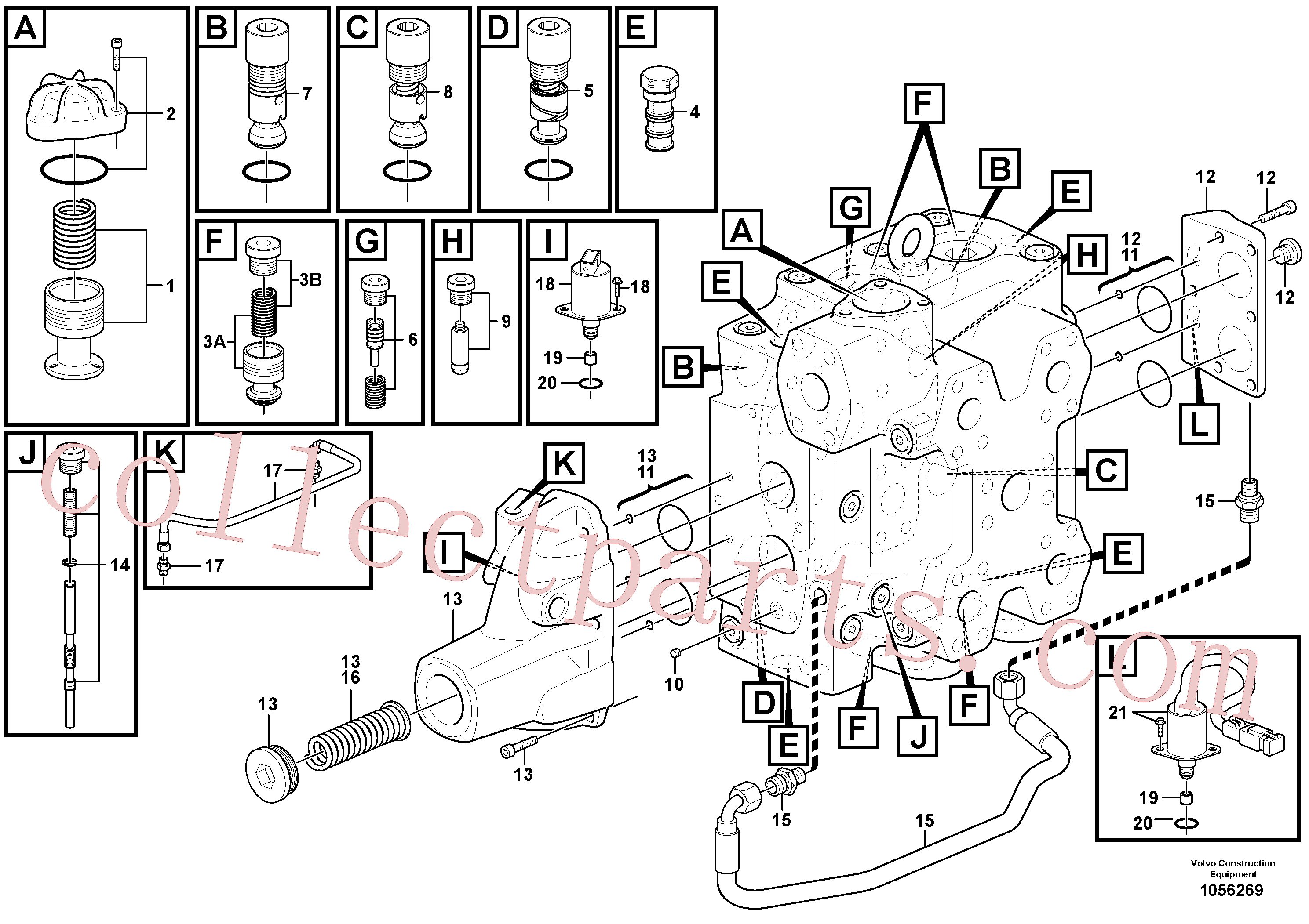 VOE15165436 for Volvo Control valve(1056269 assembly)