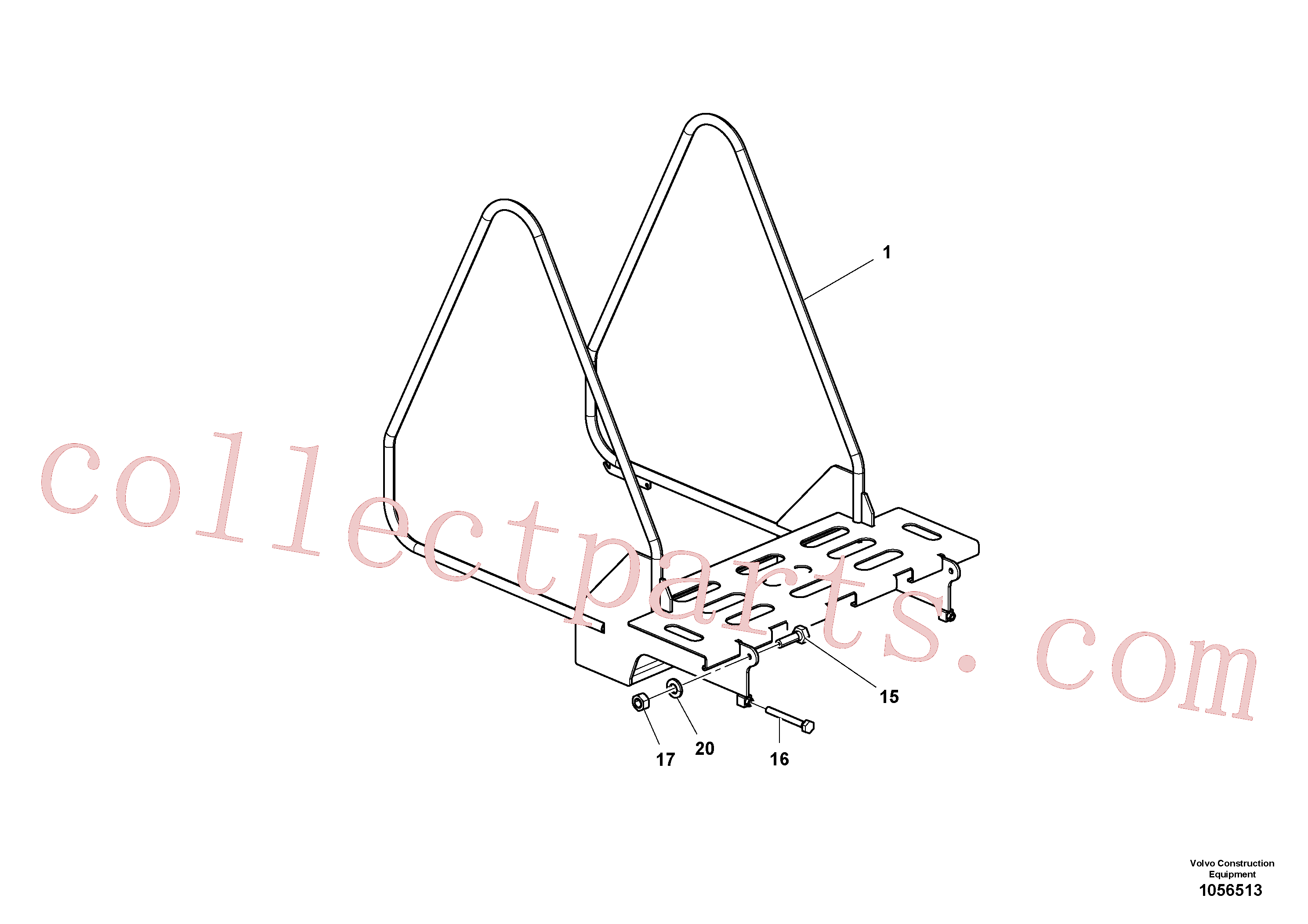 RM96722152 for Volvo Step Tractor Assembly(1056513 assembly)