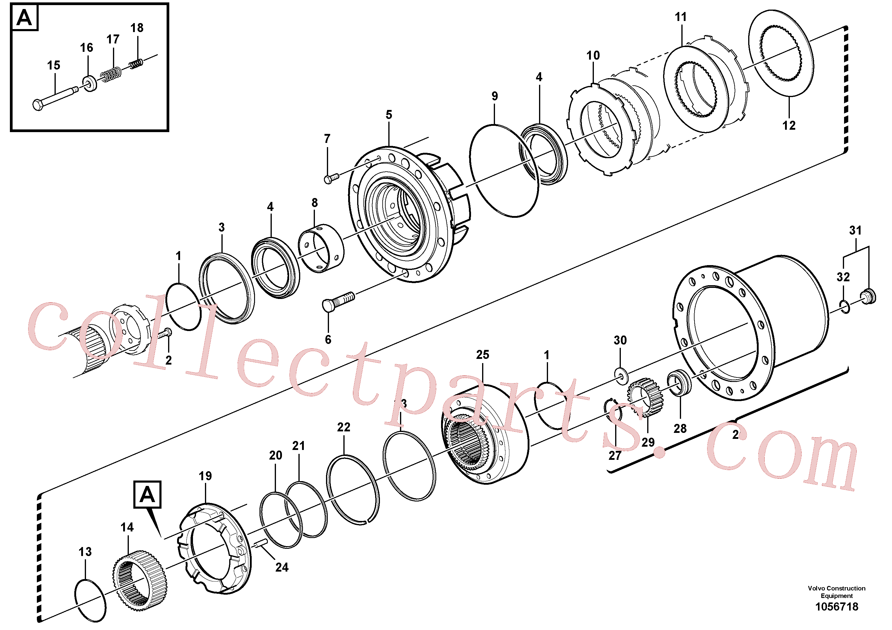 VOE11710791 for Volvo Rear axle, Hub reduction, Front axle, Hub reduction(1056718 assembly)