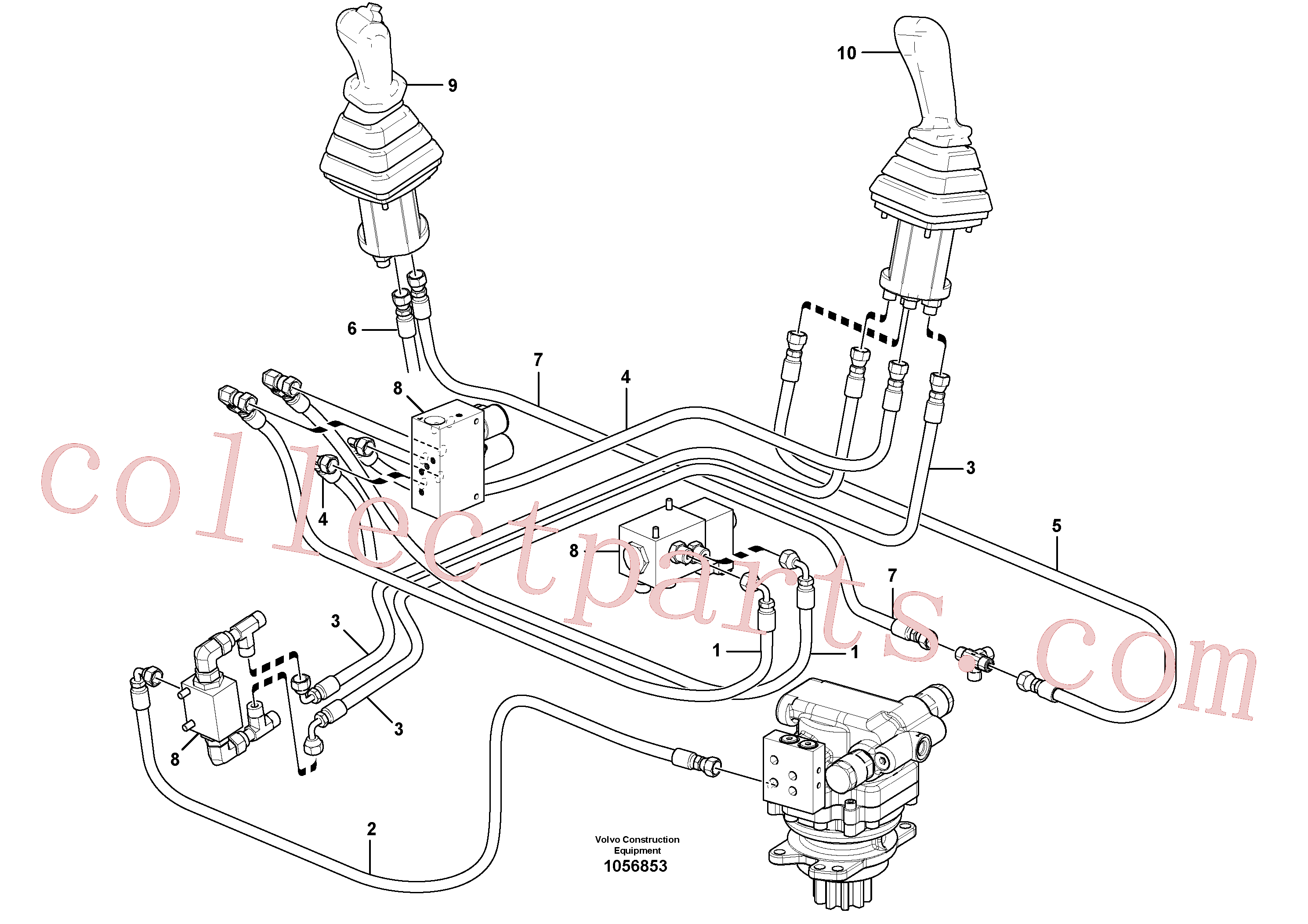 VOE936294 for Volvo Hydraulic circuit ( low pressure )(1056853 assembly)