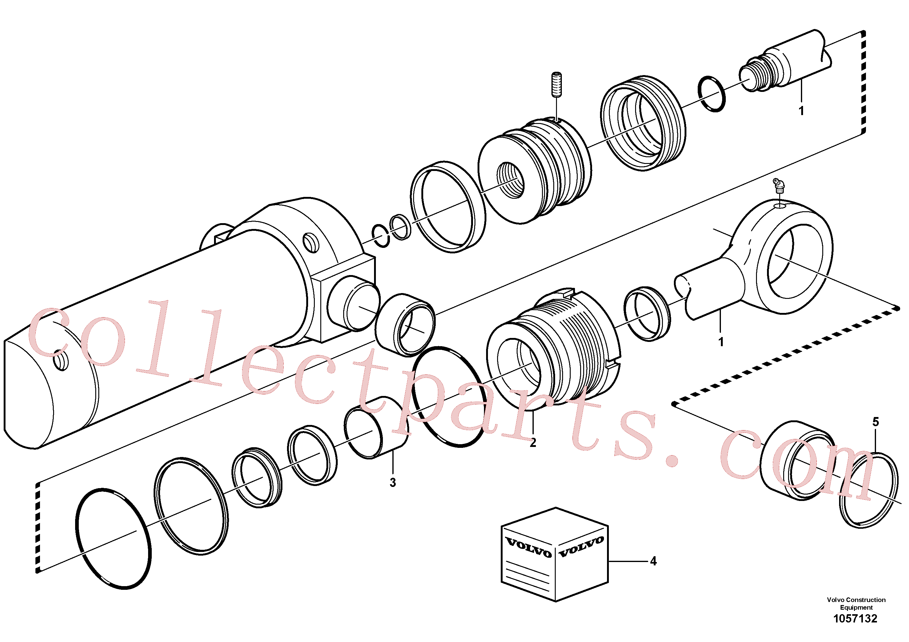 VOE15078248 for Volvo Swing cylinder(1057132 assembly)