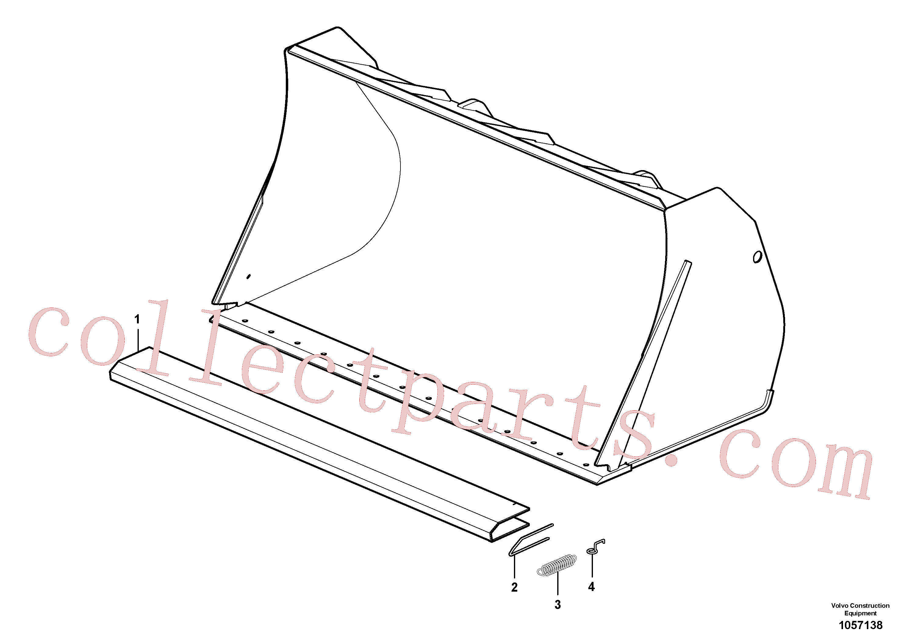 ZM4414424 for Volvo Protecting plate(1057138 assembly)