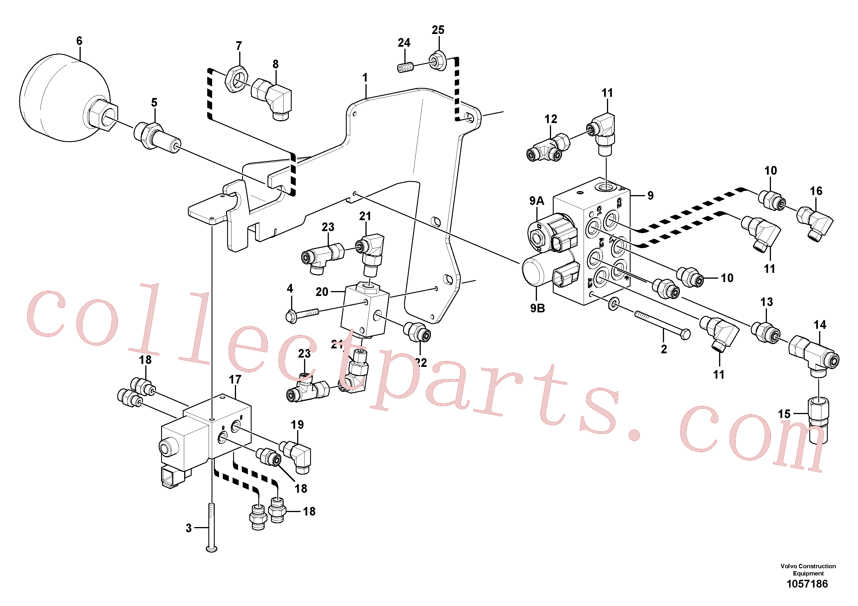 PJ4725001 for Volvo Low pressure hydraulic valves(1057186 assembly)