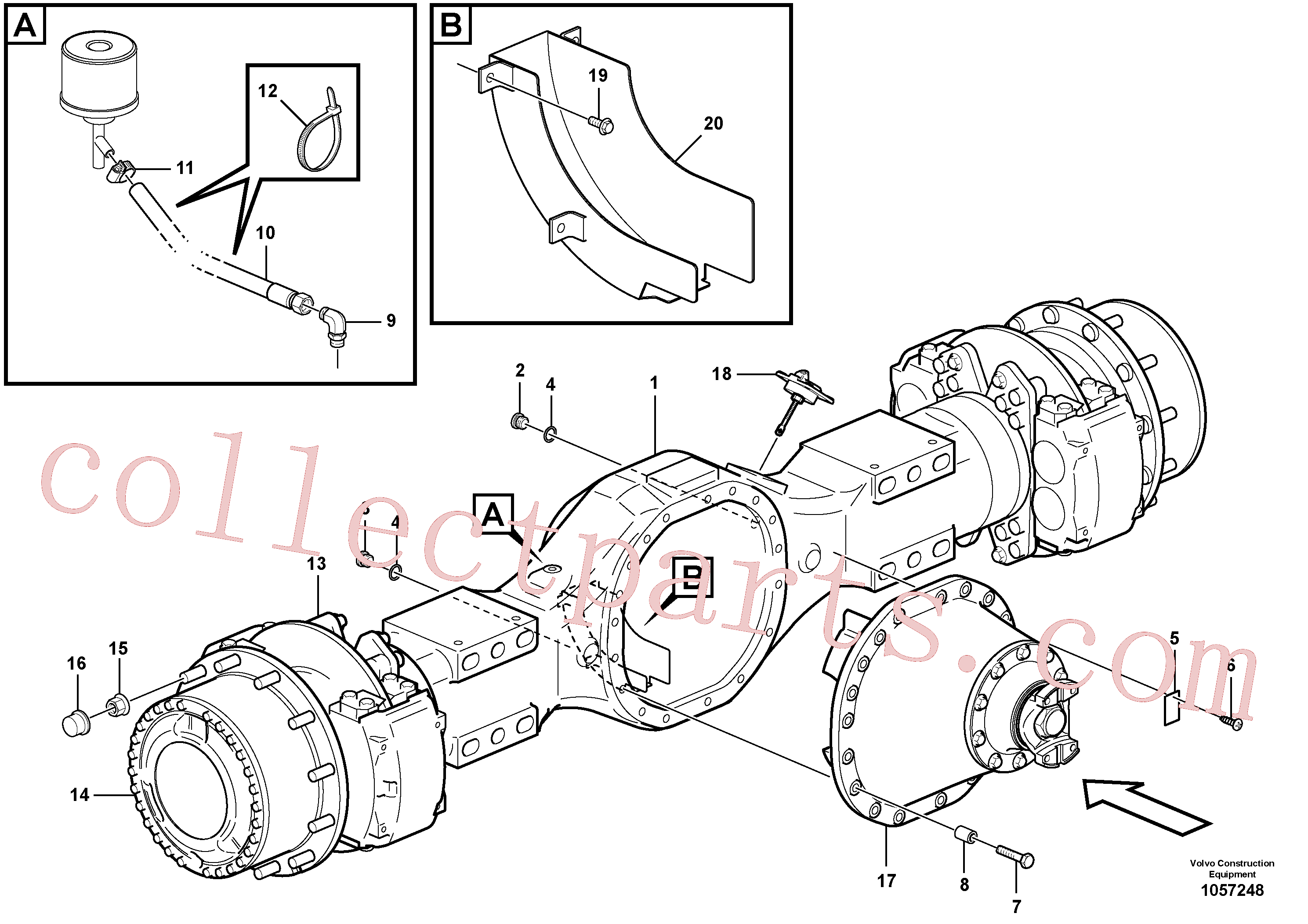 VOE11103034 for Volvo Planetary axle, motor unit(1057248 assembly)