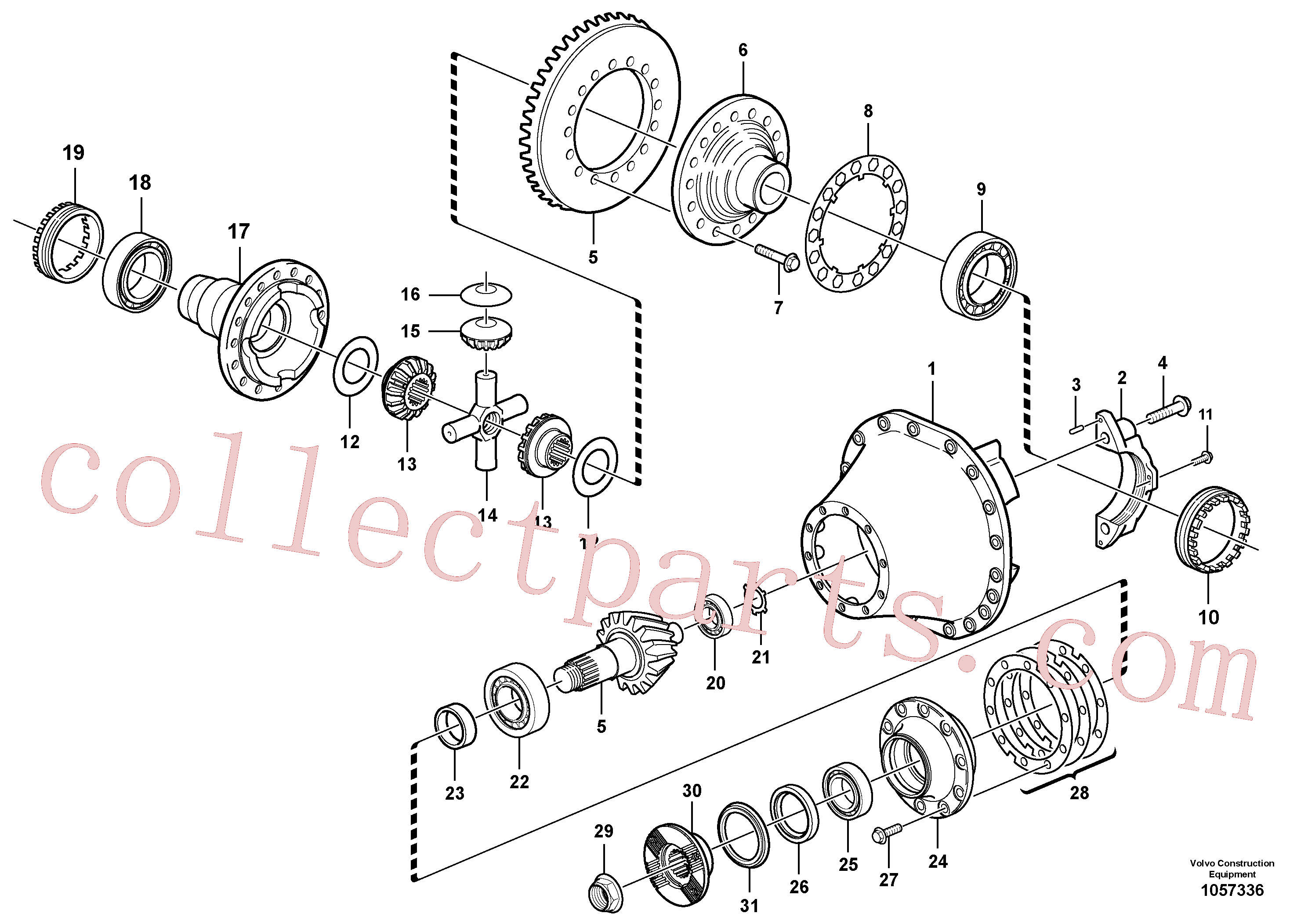 VOE81241445 for Volvo Final drive(1057336 assembly)