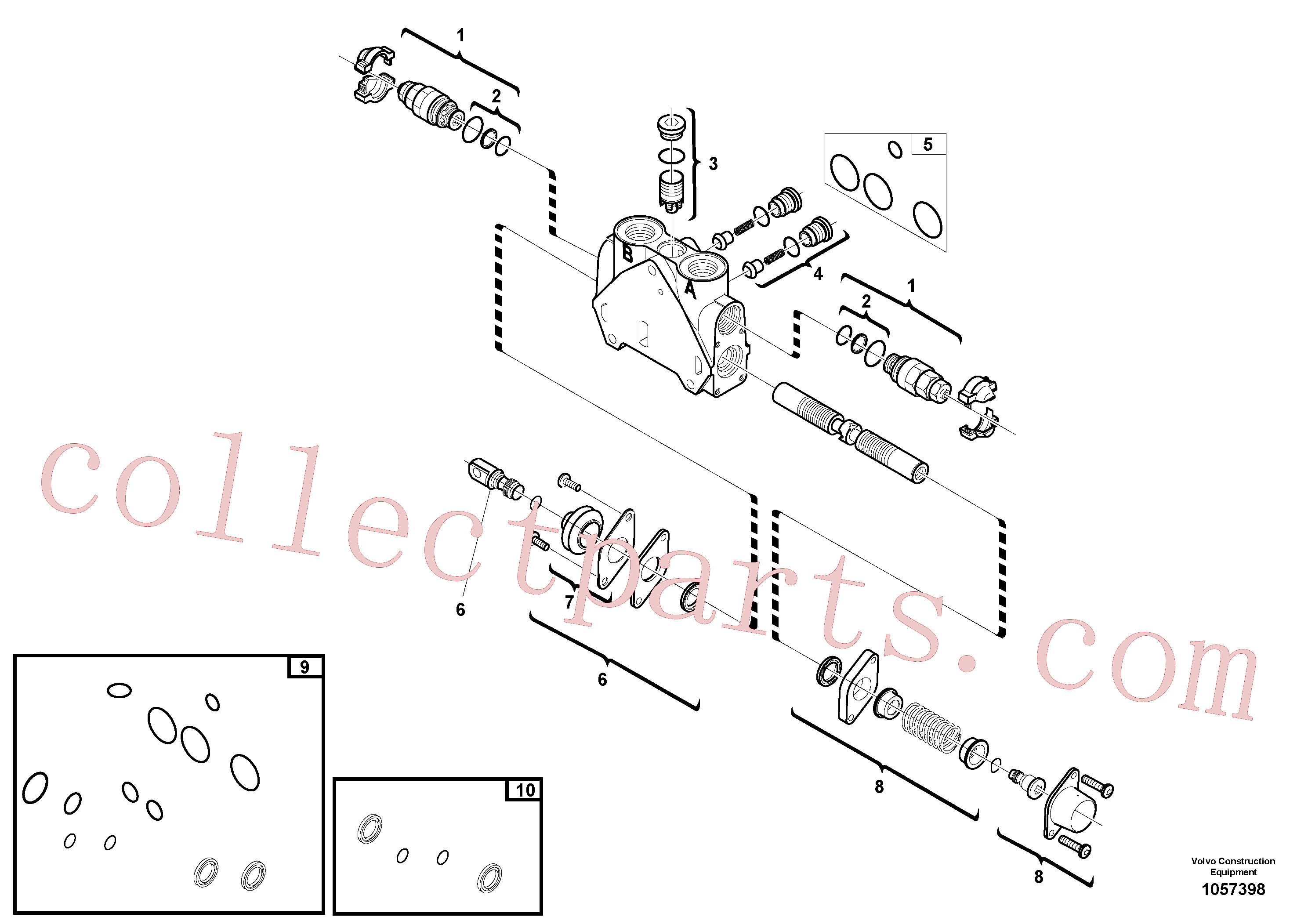 VOE15149805 for Volvo Valve section(1057398 assembly)