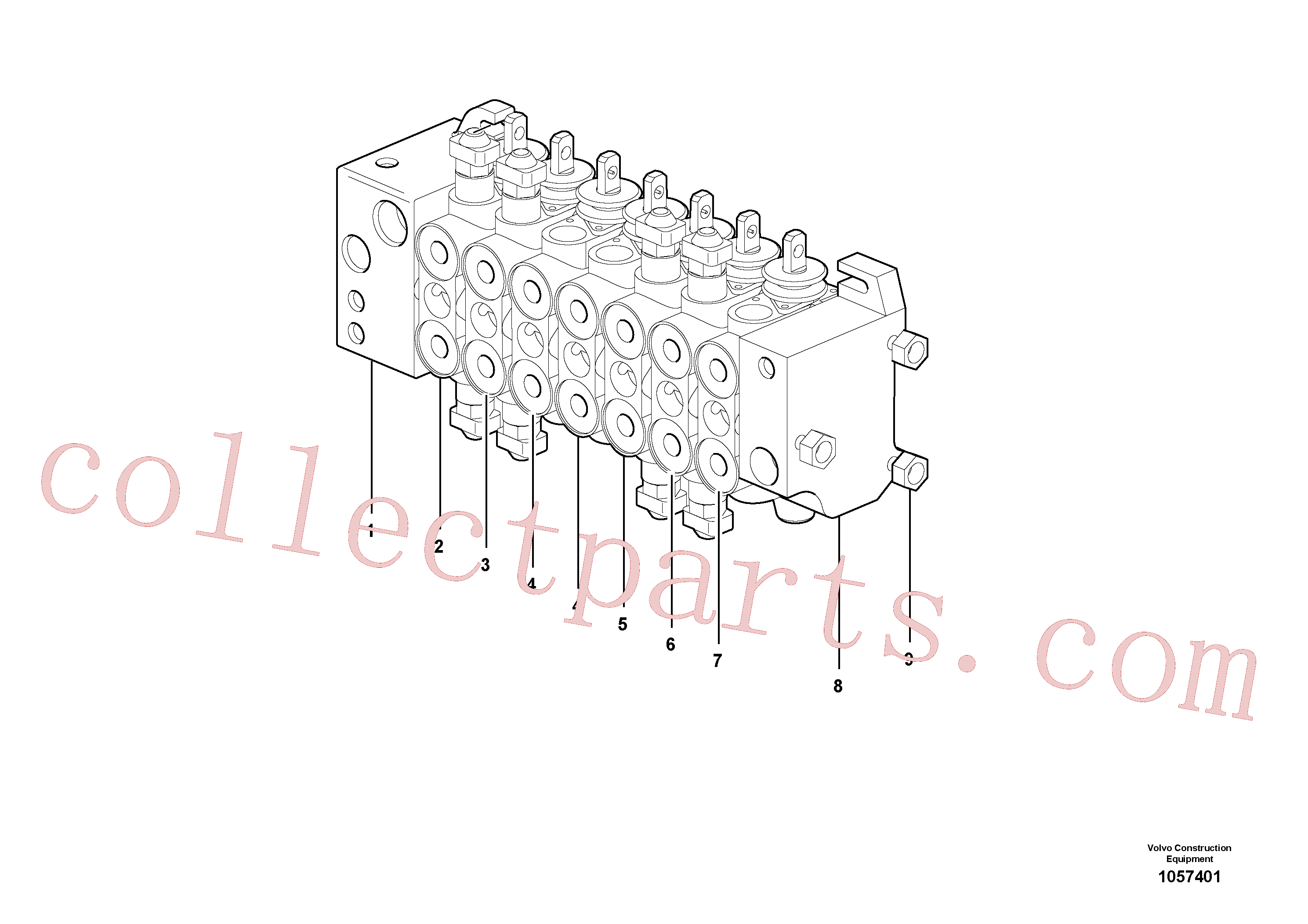VOE15149805 for Volvo Control valve(1057401 assembly)