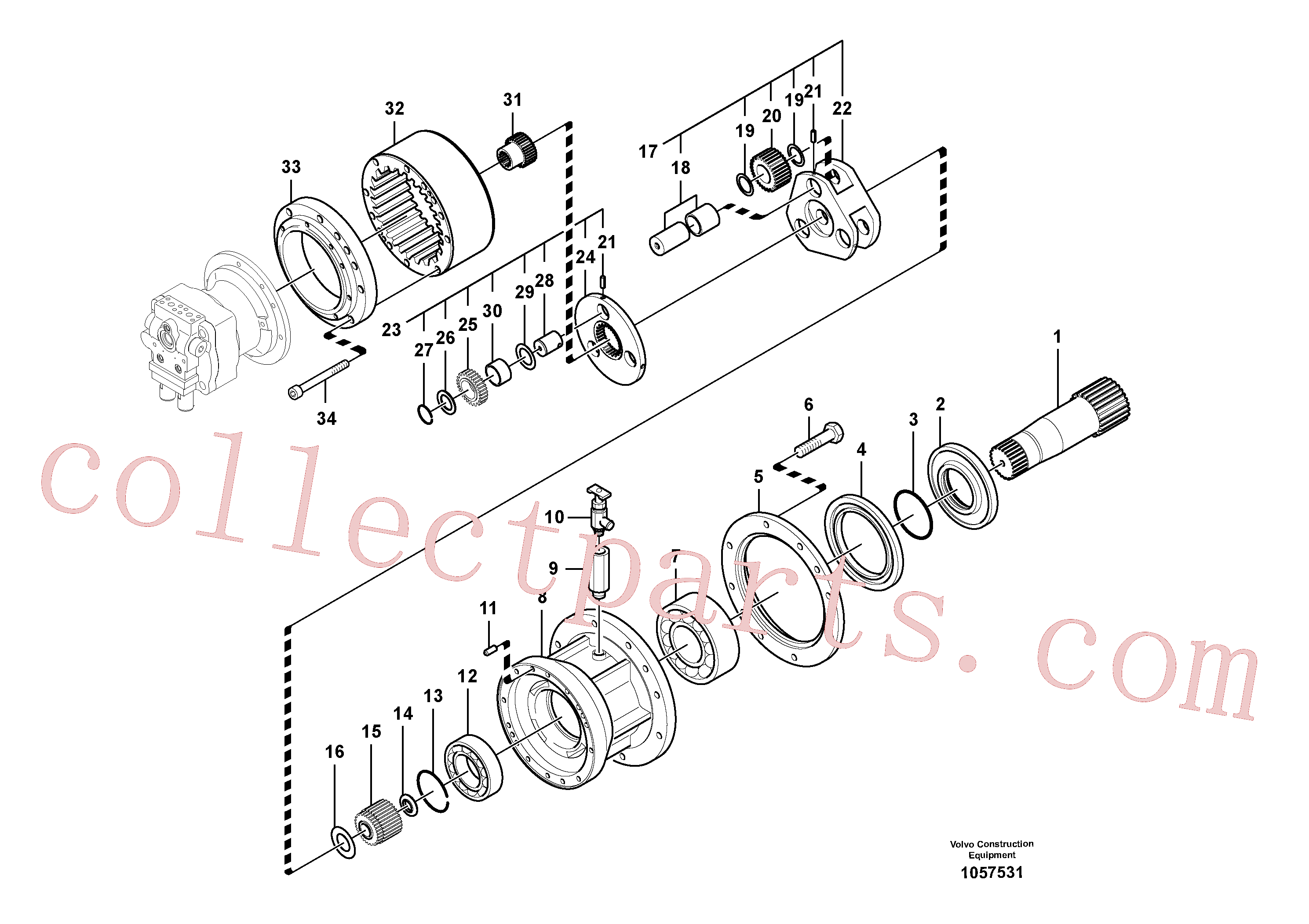 SA7118-30350 for Volvo Swing gearbox(1057531 assembly)