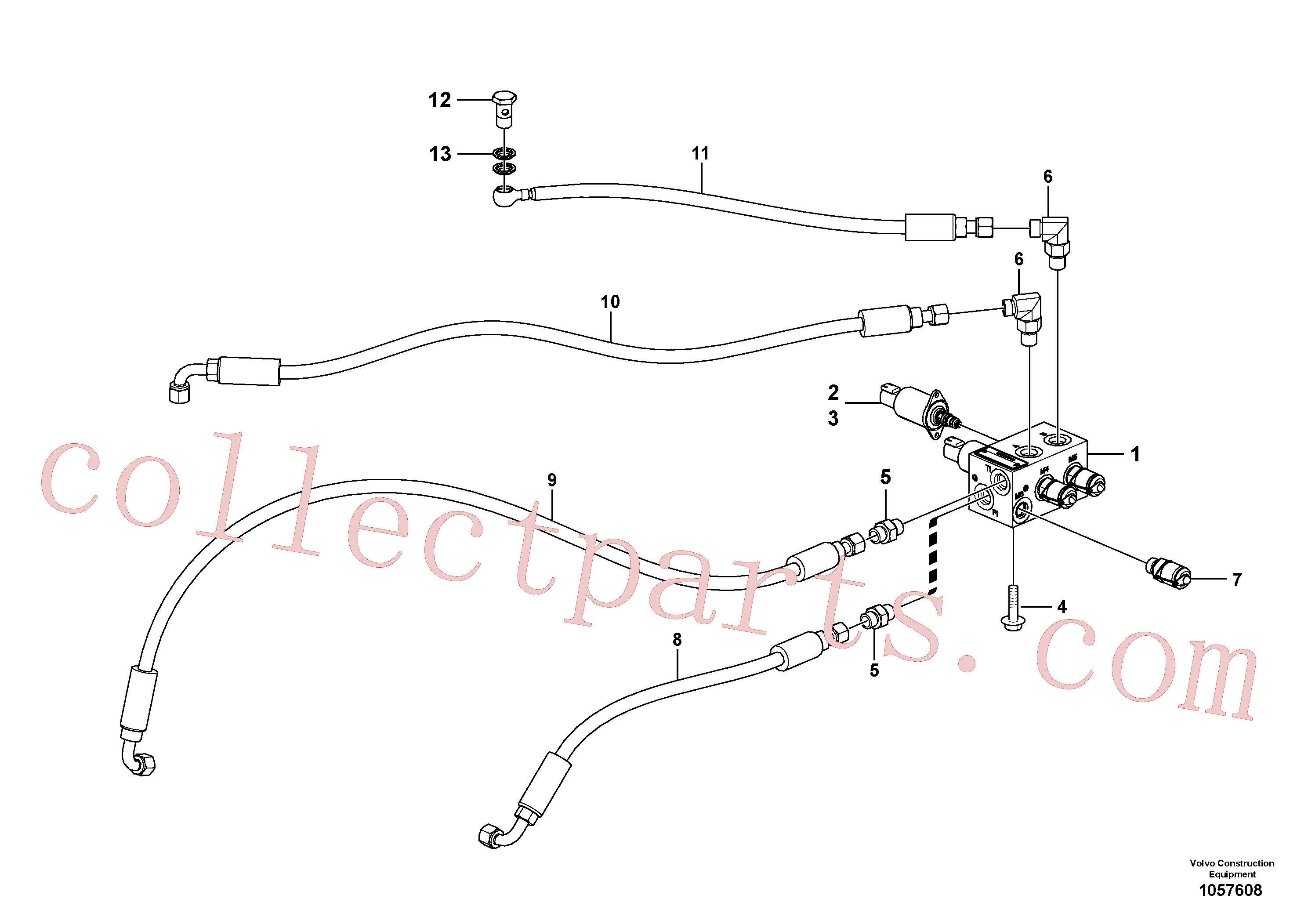 VOE15165436 for Volvo Servo system, tipper control(1057608 assembly)
