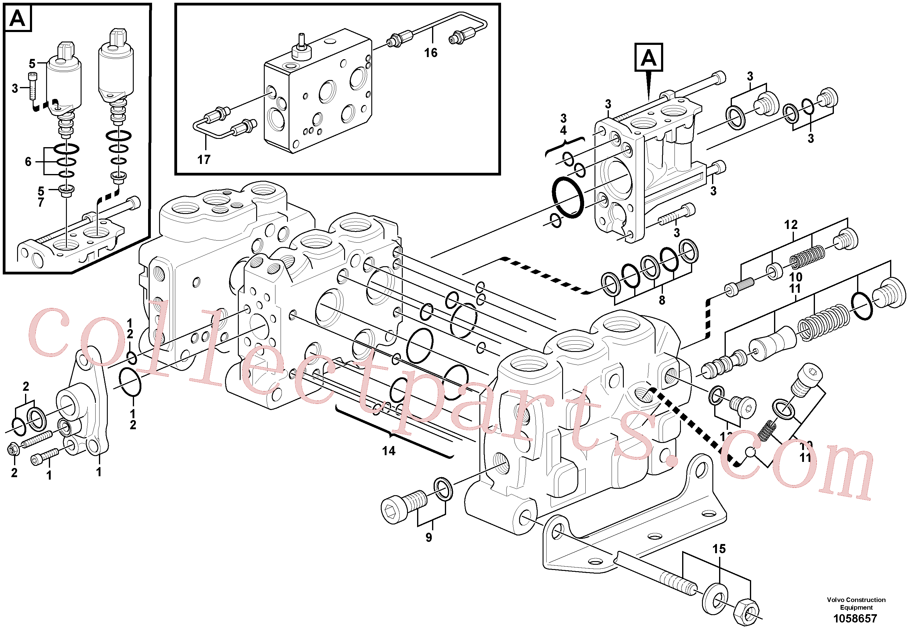 VOE15121298 for Volvo Control valve(1058657 assembly)