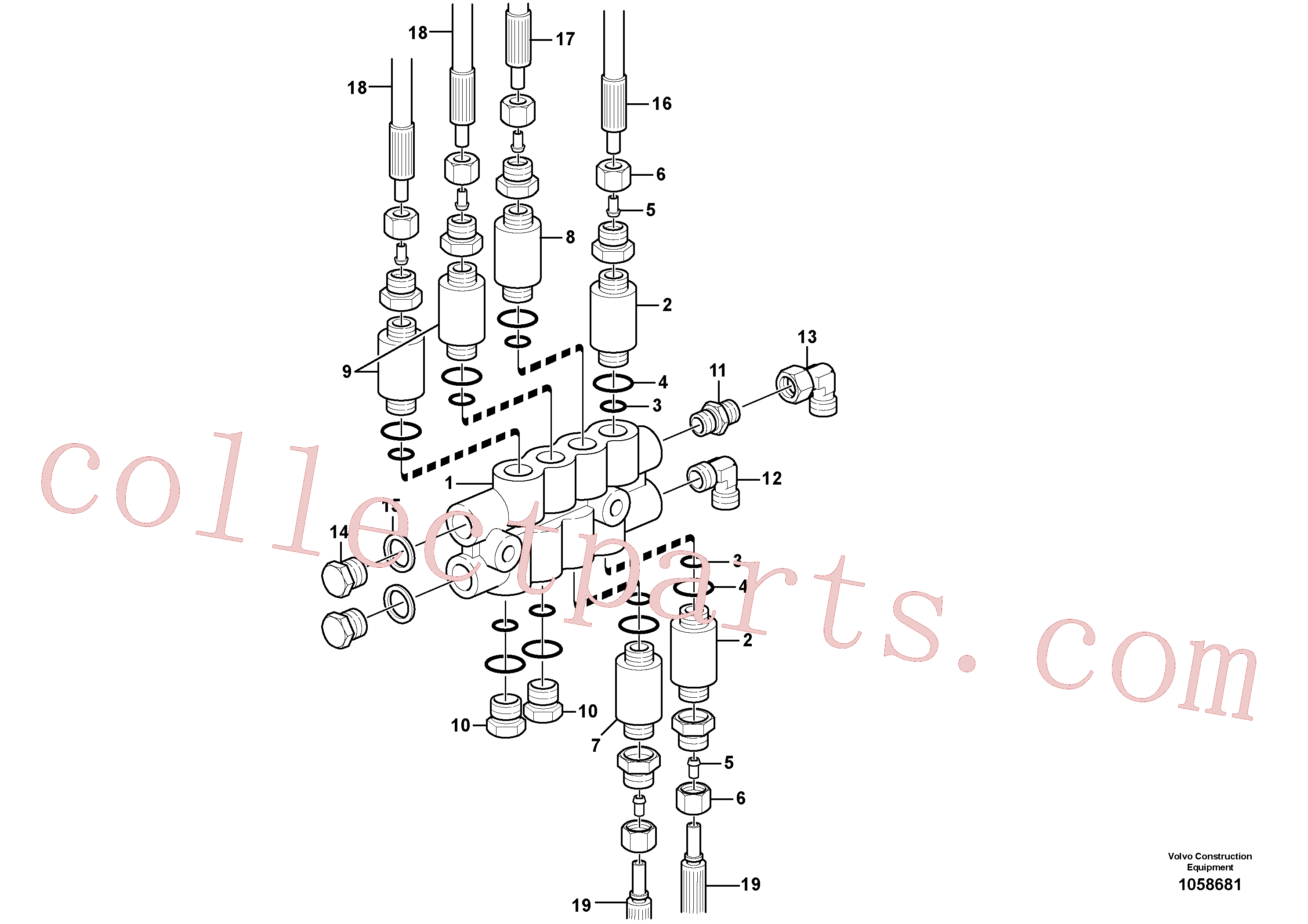 VOE11702152 for Volvo Distribution block, B3.(1058681 assembly)