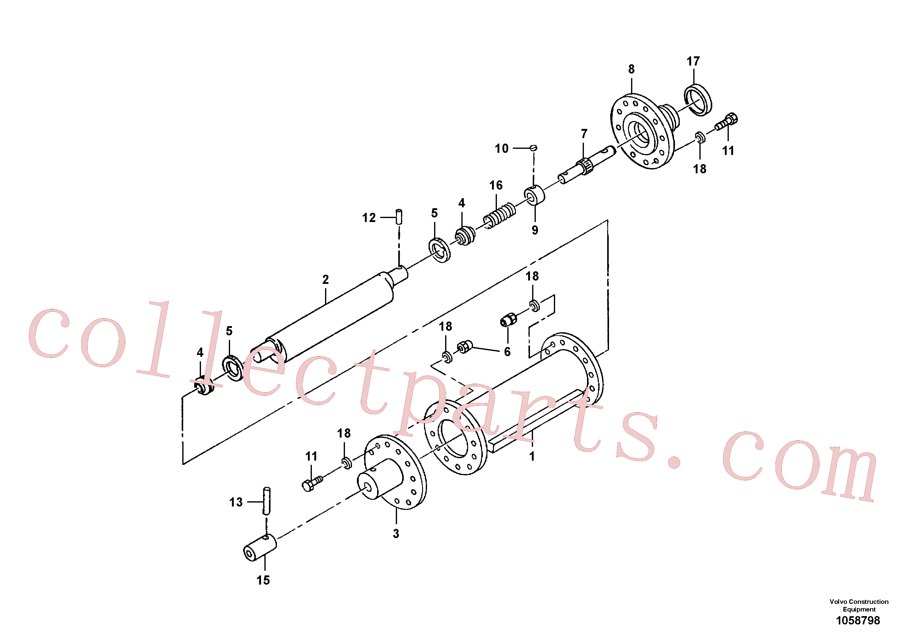 RM95919452 for Volvo Eccentric Shaft Assembly(1058798 assembly)