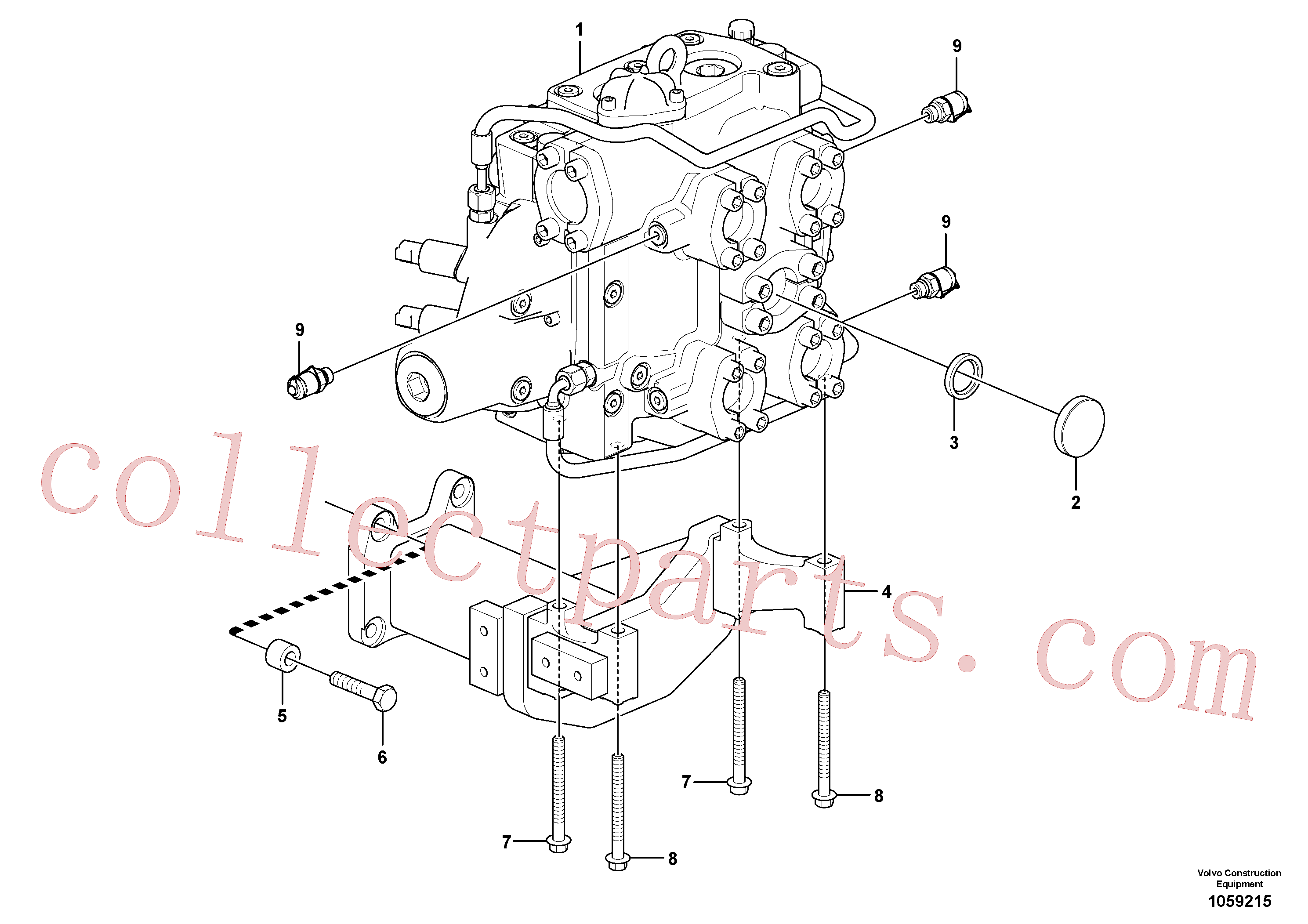VOE11108798 for Volvo Control valve with fitting parts.(1059215 assembly)