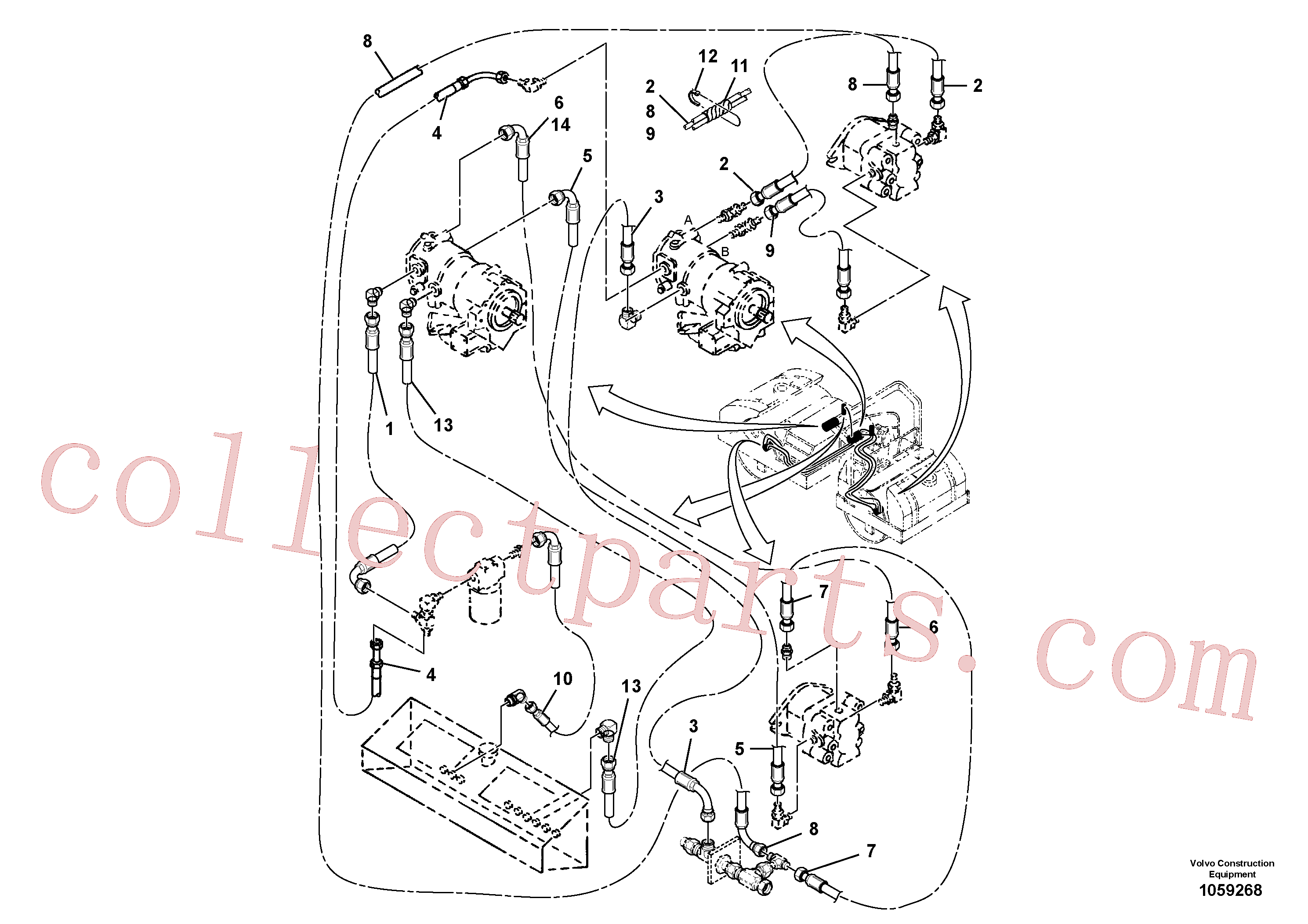 RM13040506 for Volvo Vibration Hoses Installation(1059268 assembly)