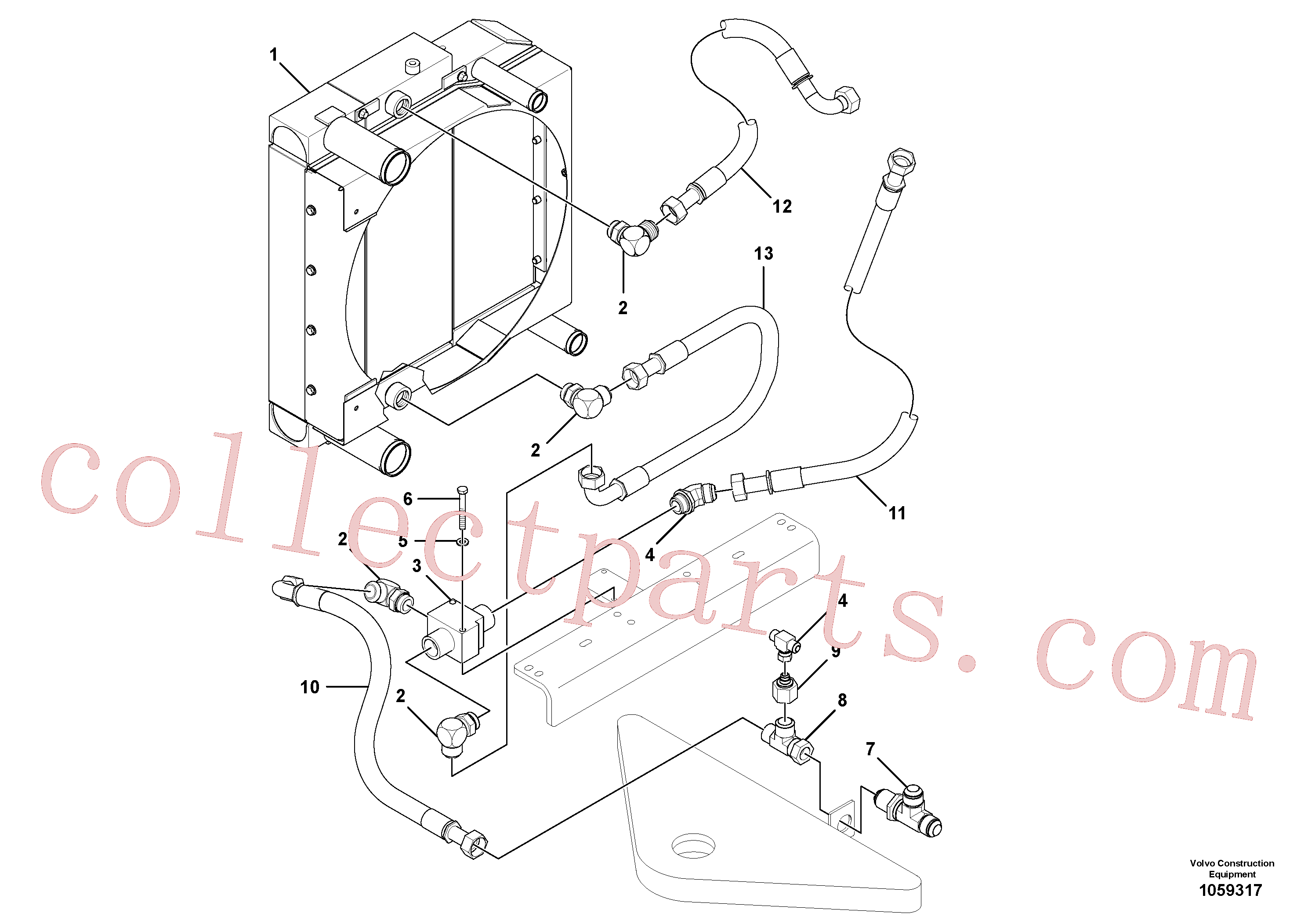 RM13497441 for Volvo Cooling system(1059317 assembly)