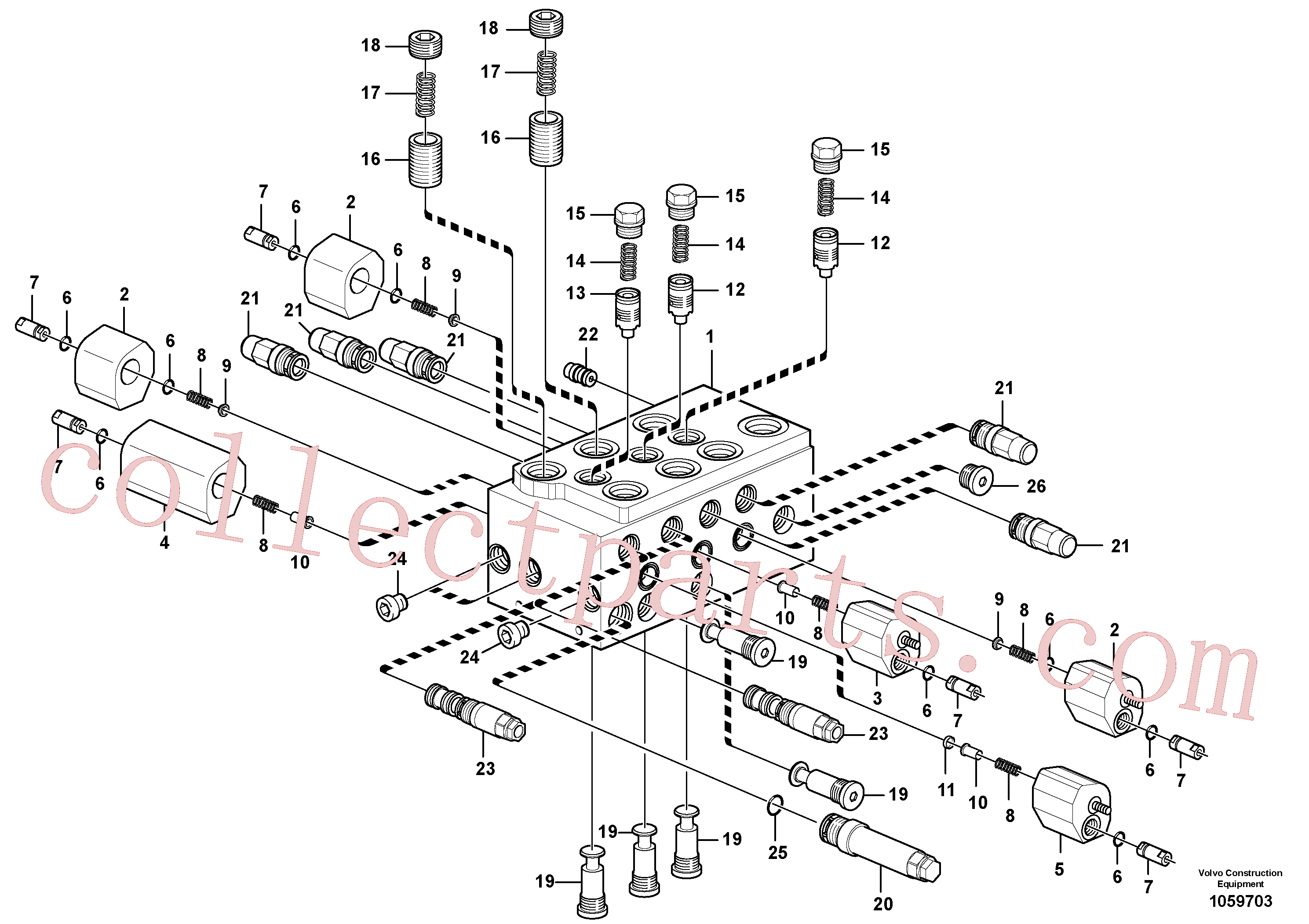 VOE15168150 for Volvo Control valve(1059703 assembly)