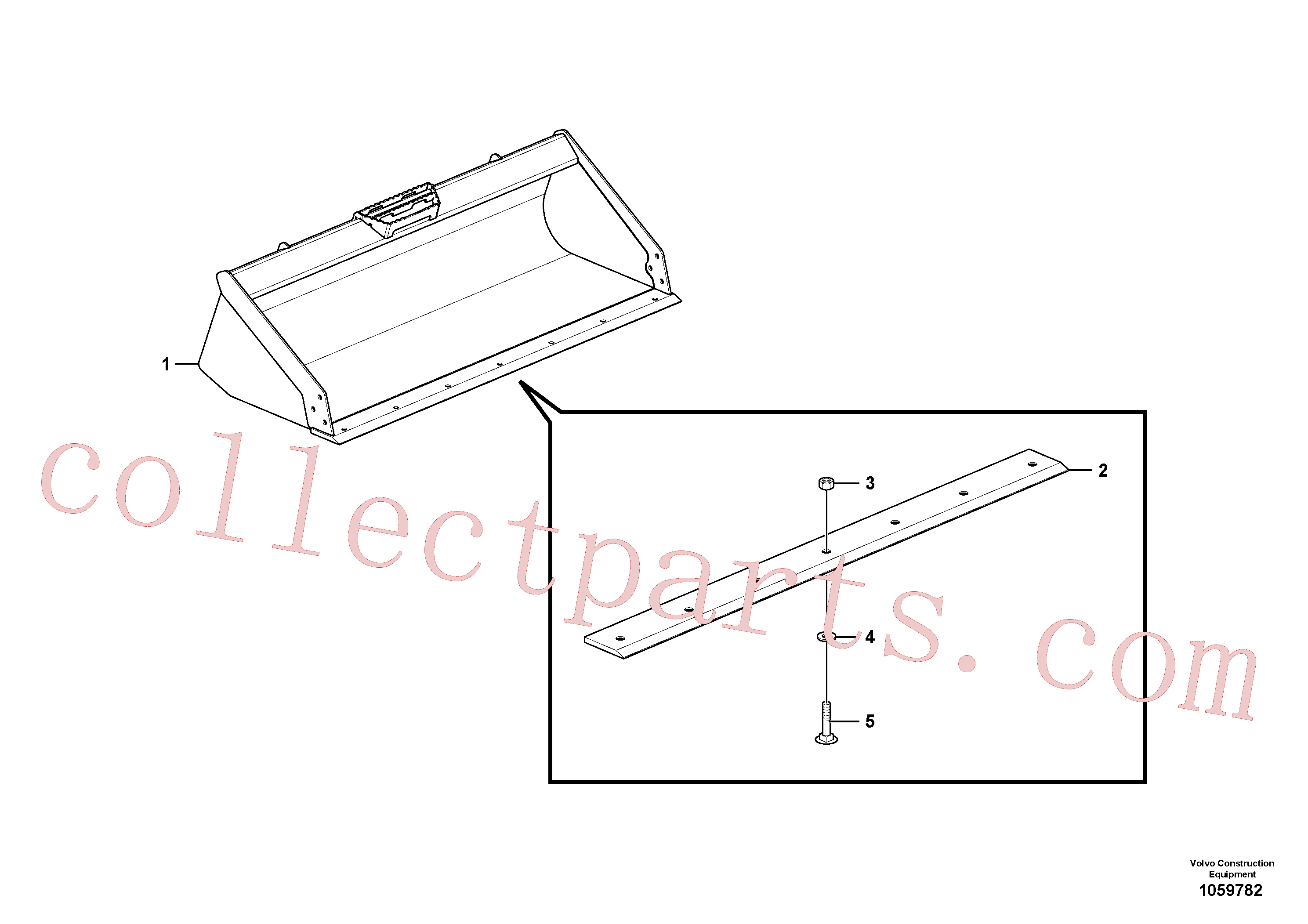 VOE16218125 for Volvo Landscape bucket, General purpose bucket(1059782 assembly)