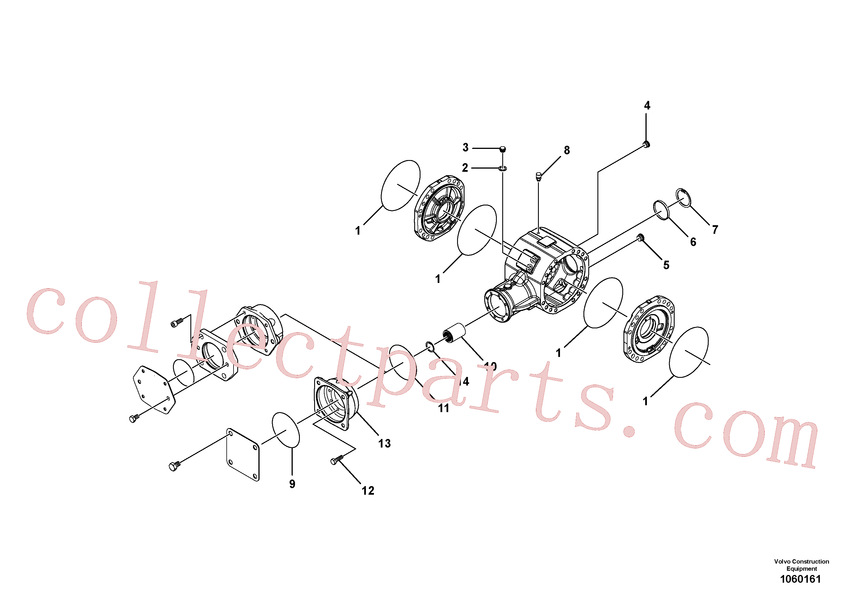 RM58916628 for Volvo Axle(1060161 assembly)