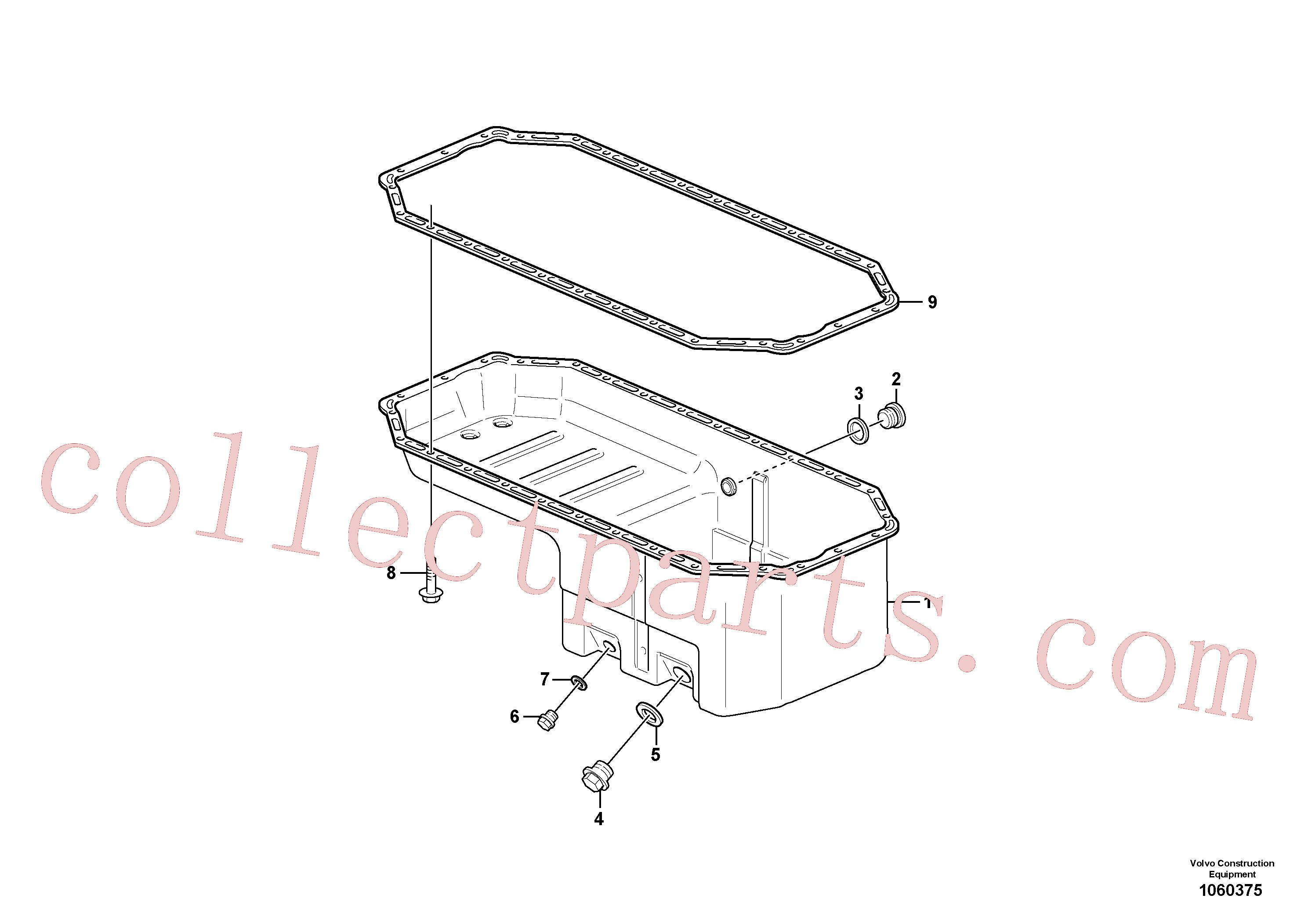 VOE947624 for Volvo Oil sump(1060375 assembly)