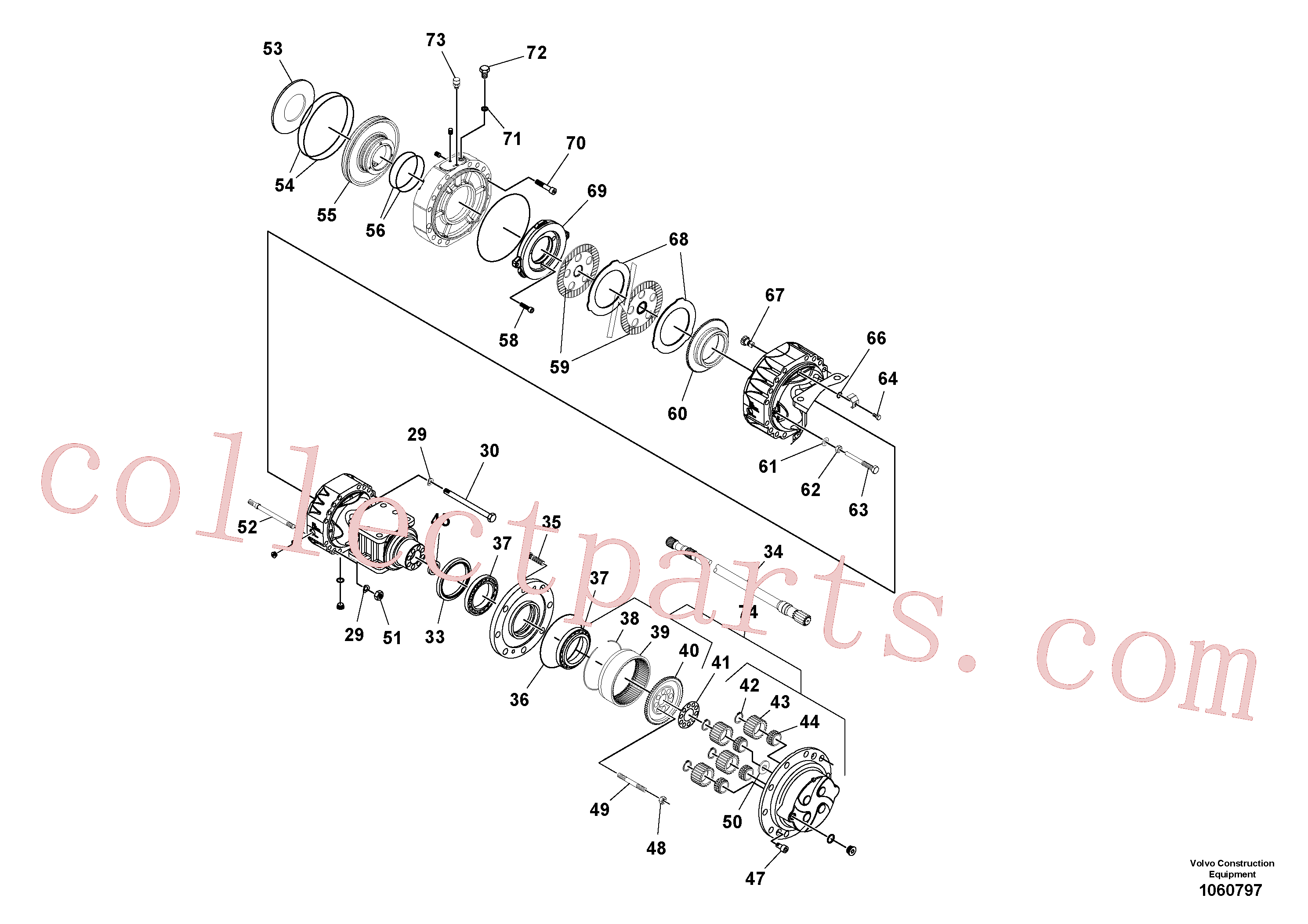 VOE11711860 for Volvo Axle(1060797 assembly)