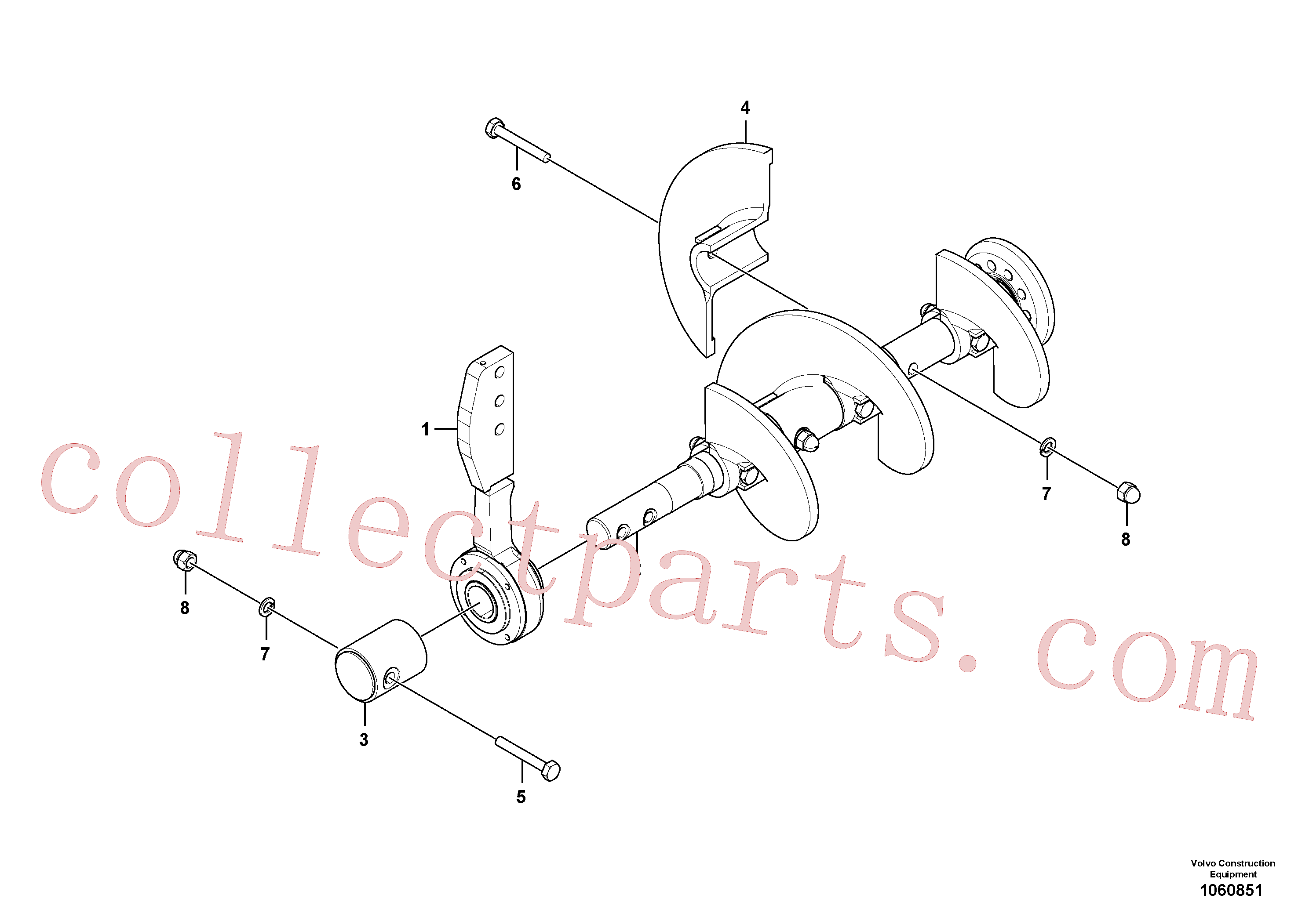 RM58832635 for Volvo Auger Assembly, Auger Basic Assembly(1060851 assembly)