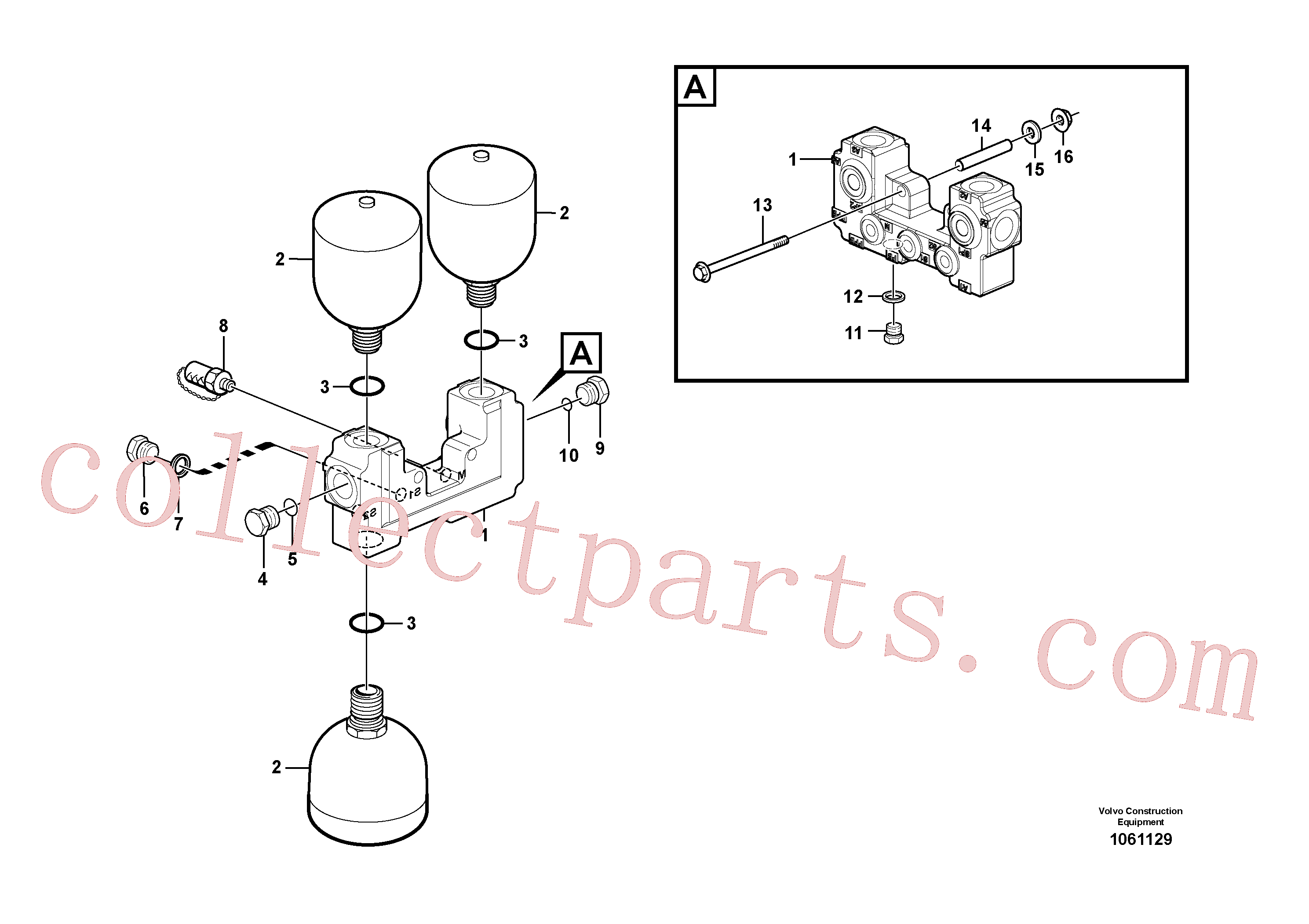 VOE968612 for Volvo Valve and accumulators(1061129 assembly)