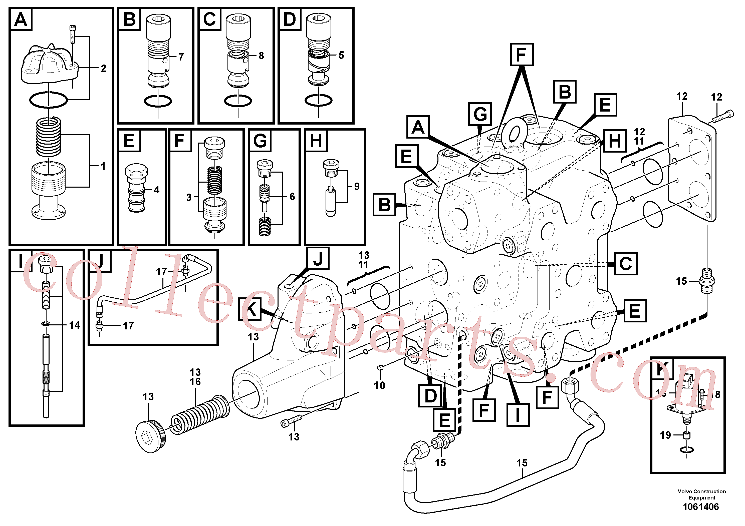 VOE15165436 for Volvo Control valve(1061406 assembly)
