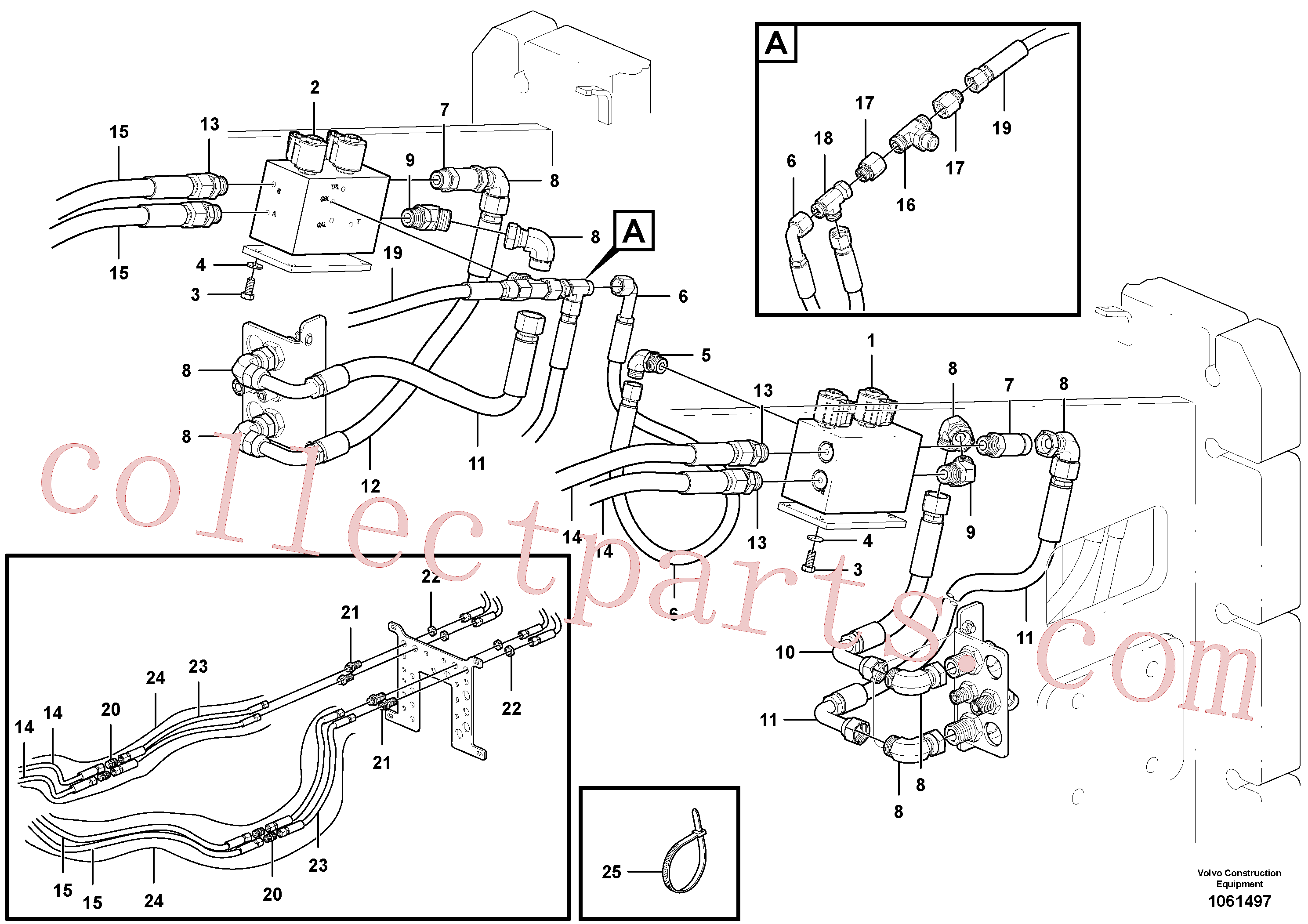 VOE13933962 for Volvo Bypass Valve Hydraulic Circuit - AWD(1061497 assembly)