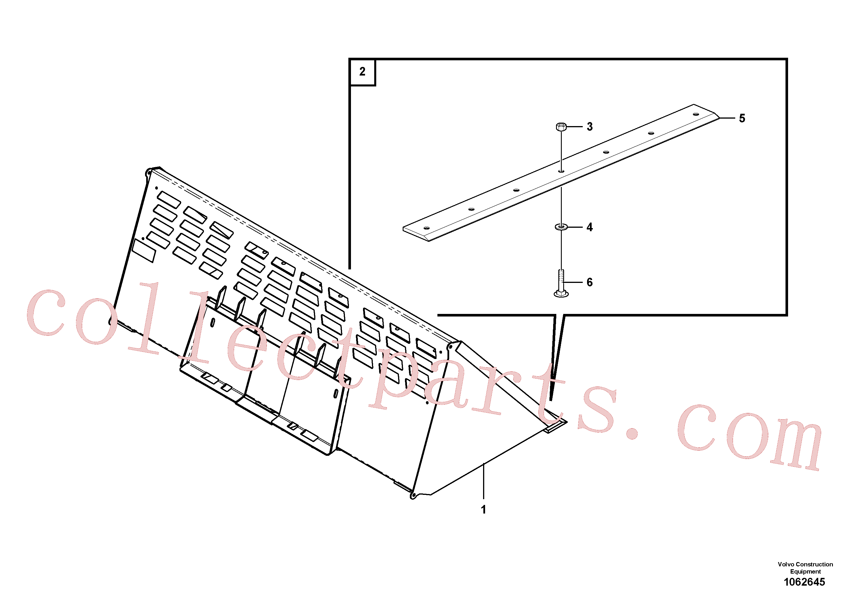 VOE16218125 for Volvo Snow bucket(1062645 assembly)
