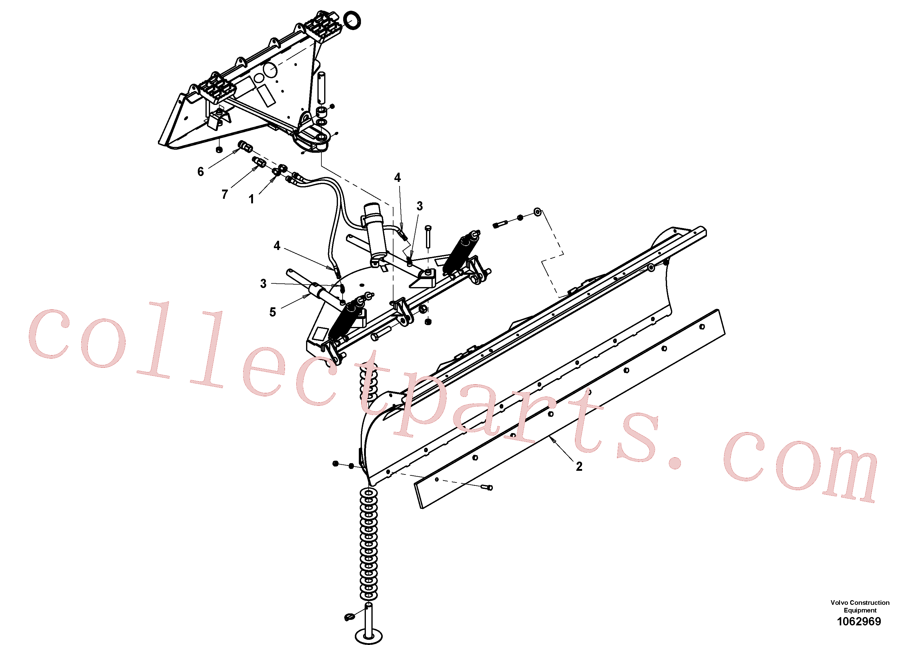 VOE16218101 for Volvo Snow blade(1062969 assembly)