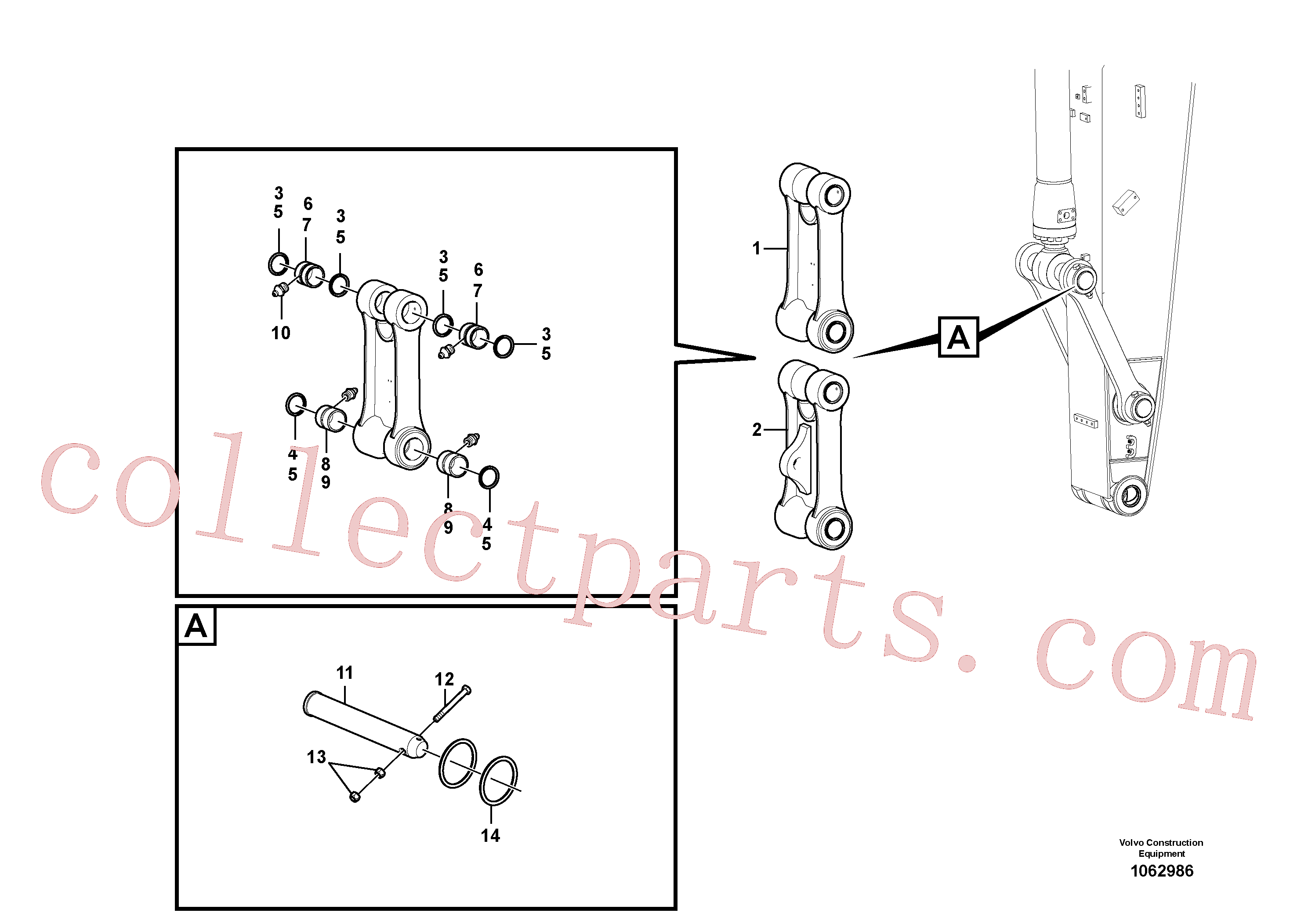 VOE14370686 for Volvo Links to connecting rod(1062986 assembly)