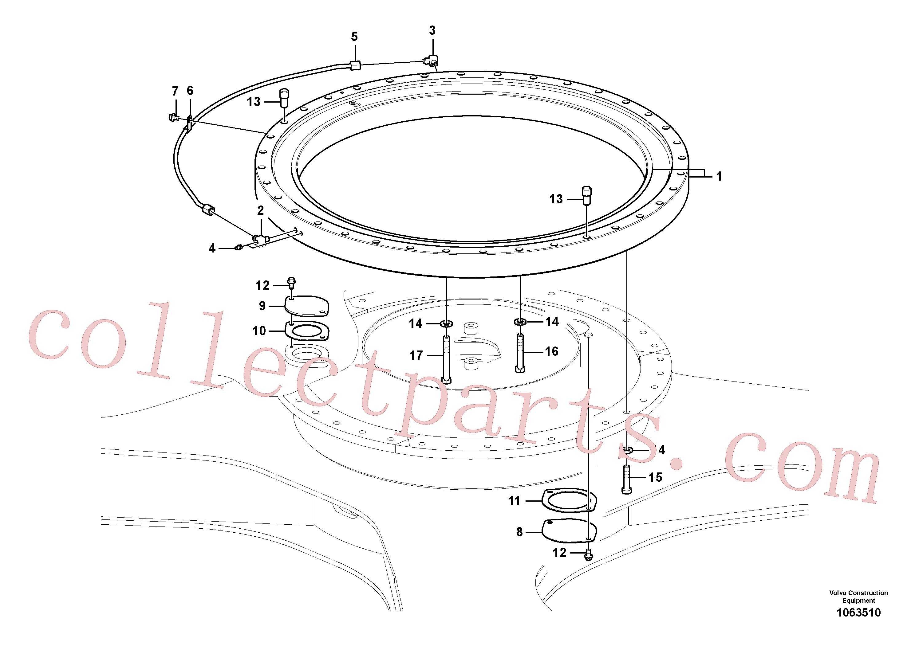 VOE14579588 for Volvo Swing system(1063510 assembly)