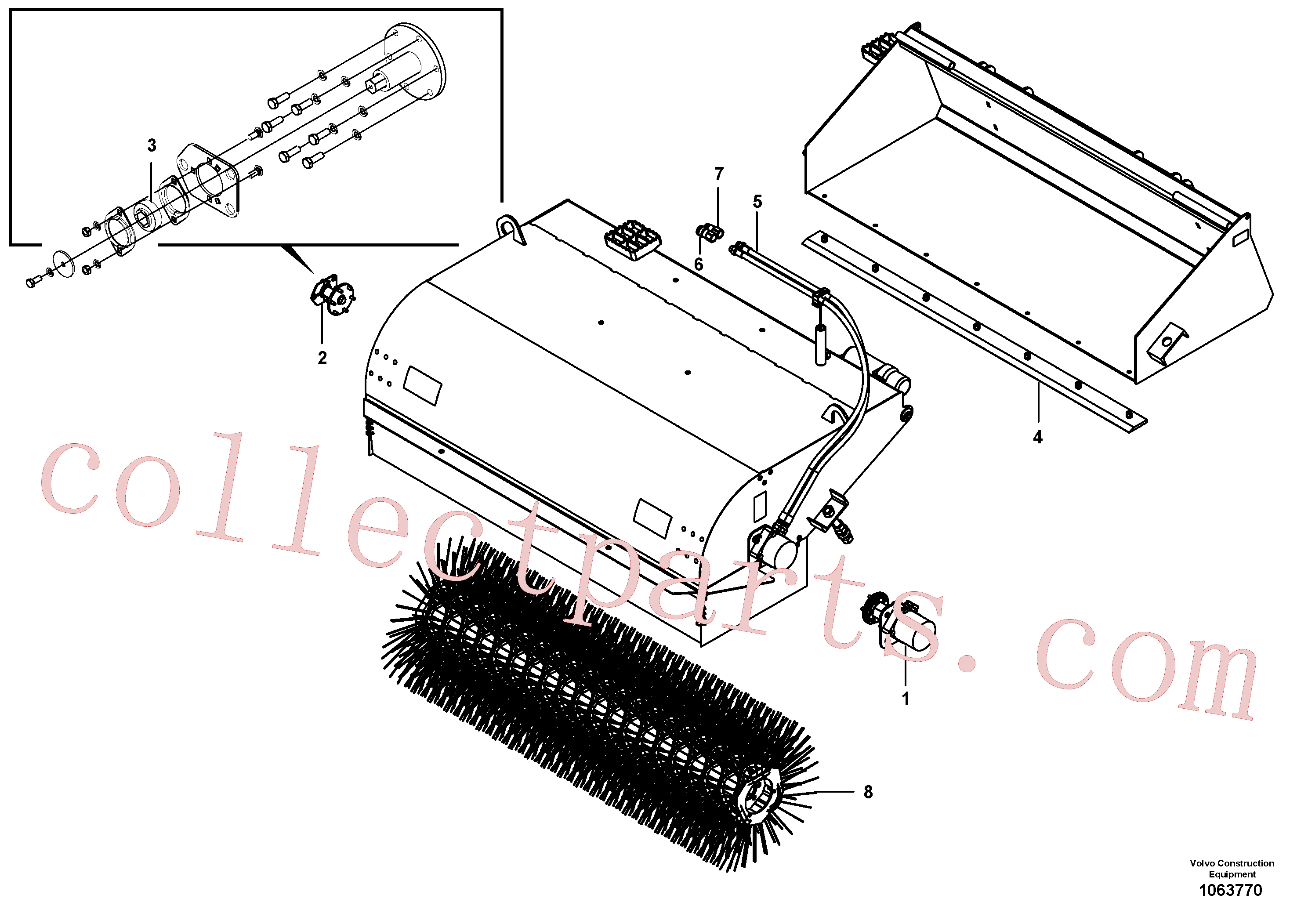 VOE16218101 for Volvo Pick-up sweeper(1063770 assembly)